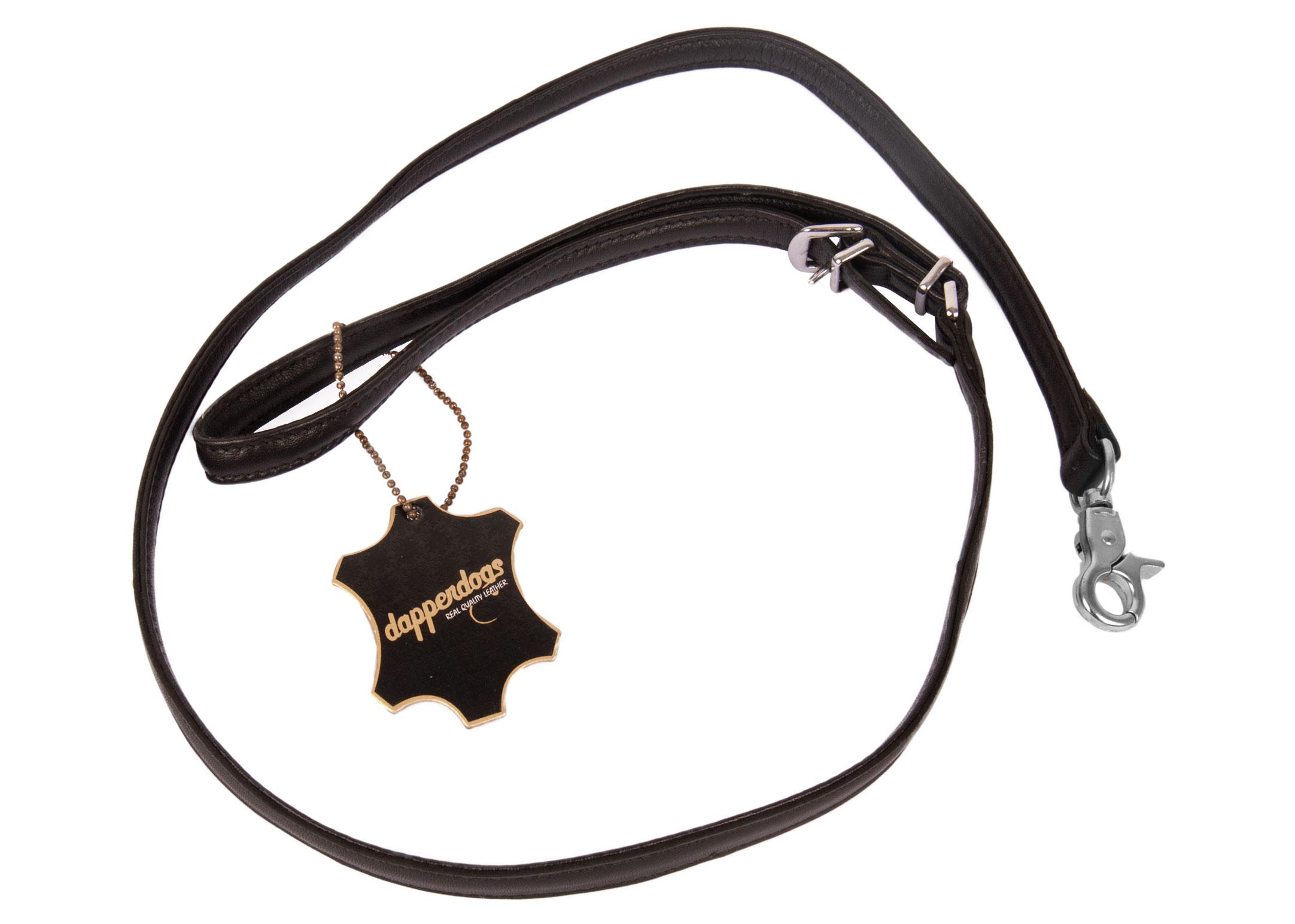Dapper Dogs Lead JEWEL Black 1,3 x 100cm Lead