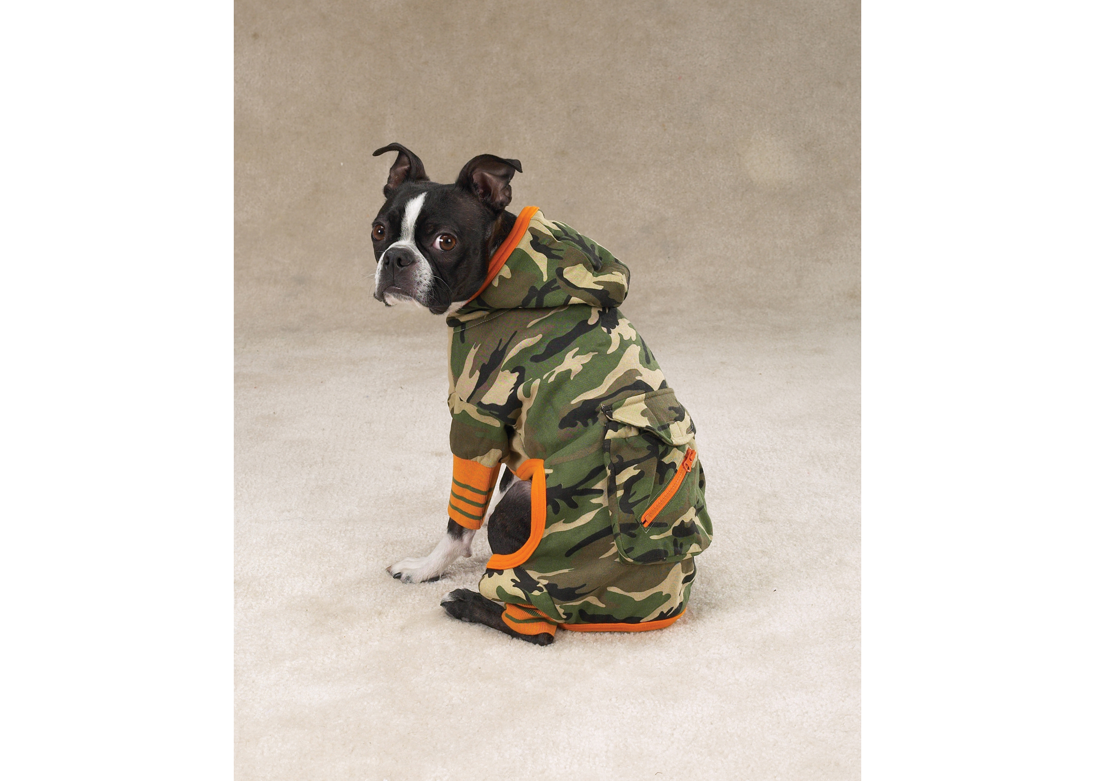 Zack & Zoe Jumpsuit Camo Attire For Dogs