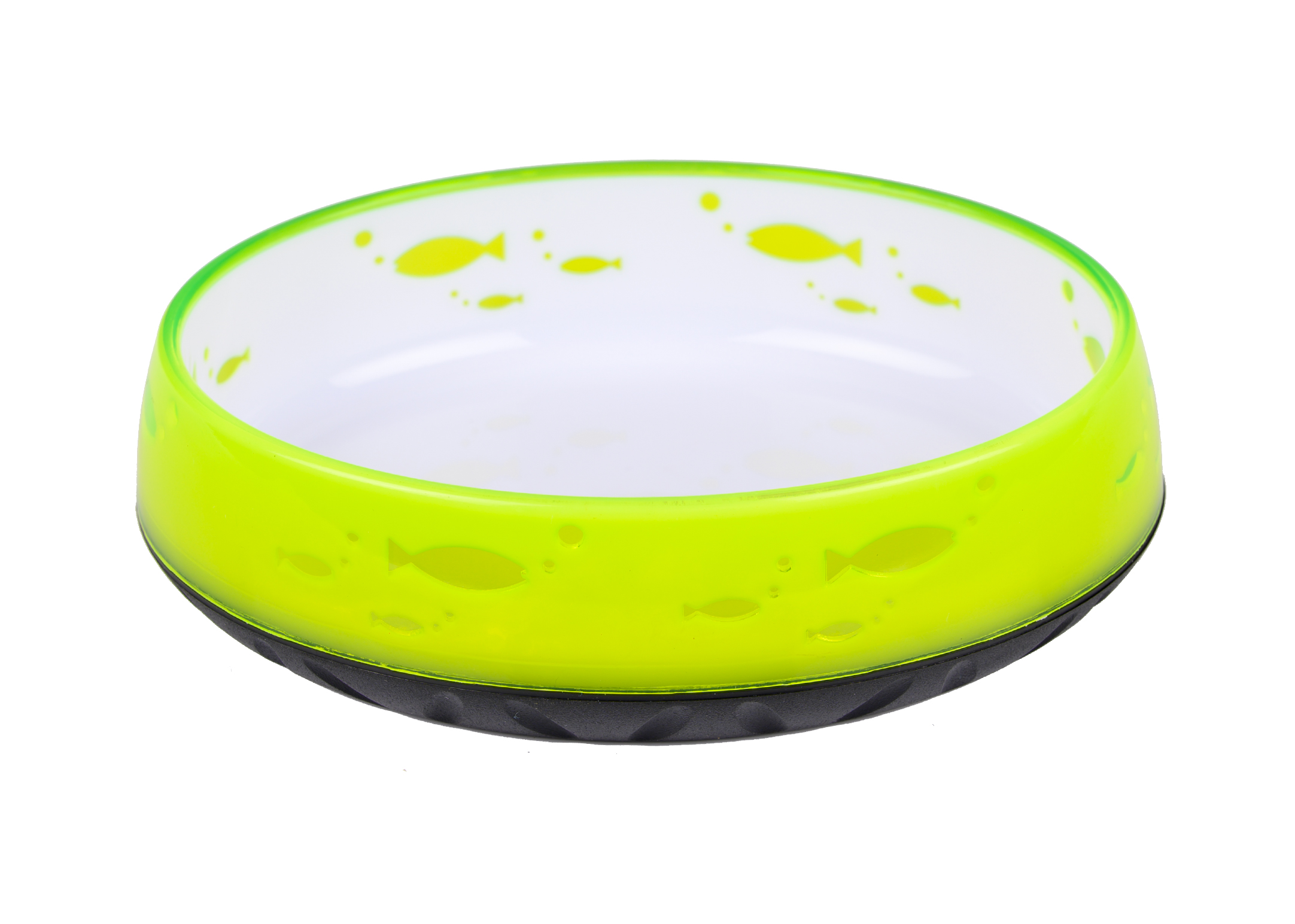 Show Tech Anti-Slip Cat Bowl Oval Lemon 14,6cm x 12,1cm - 260ml