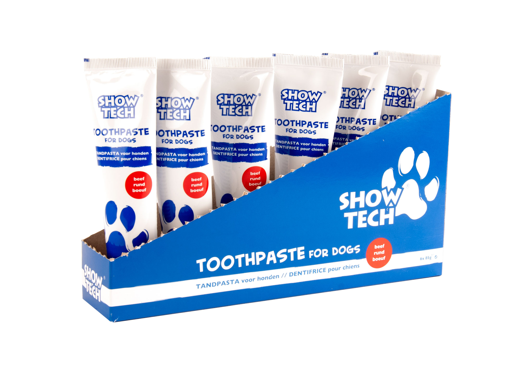 Show Tech Display Toothpaste 6x85gr Beef Teeth Cleaning Product