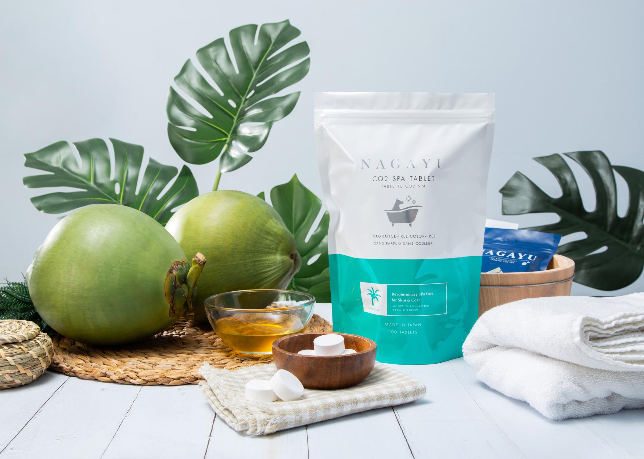 Nagayu Koolzuurhoudende Spa Tabletten 100stuks - Kokosolie