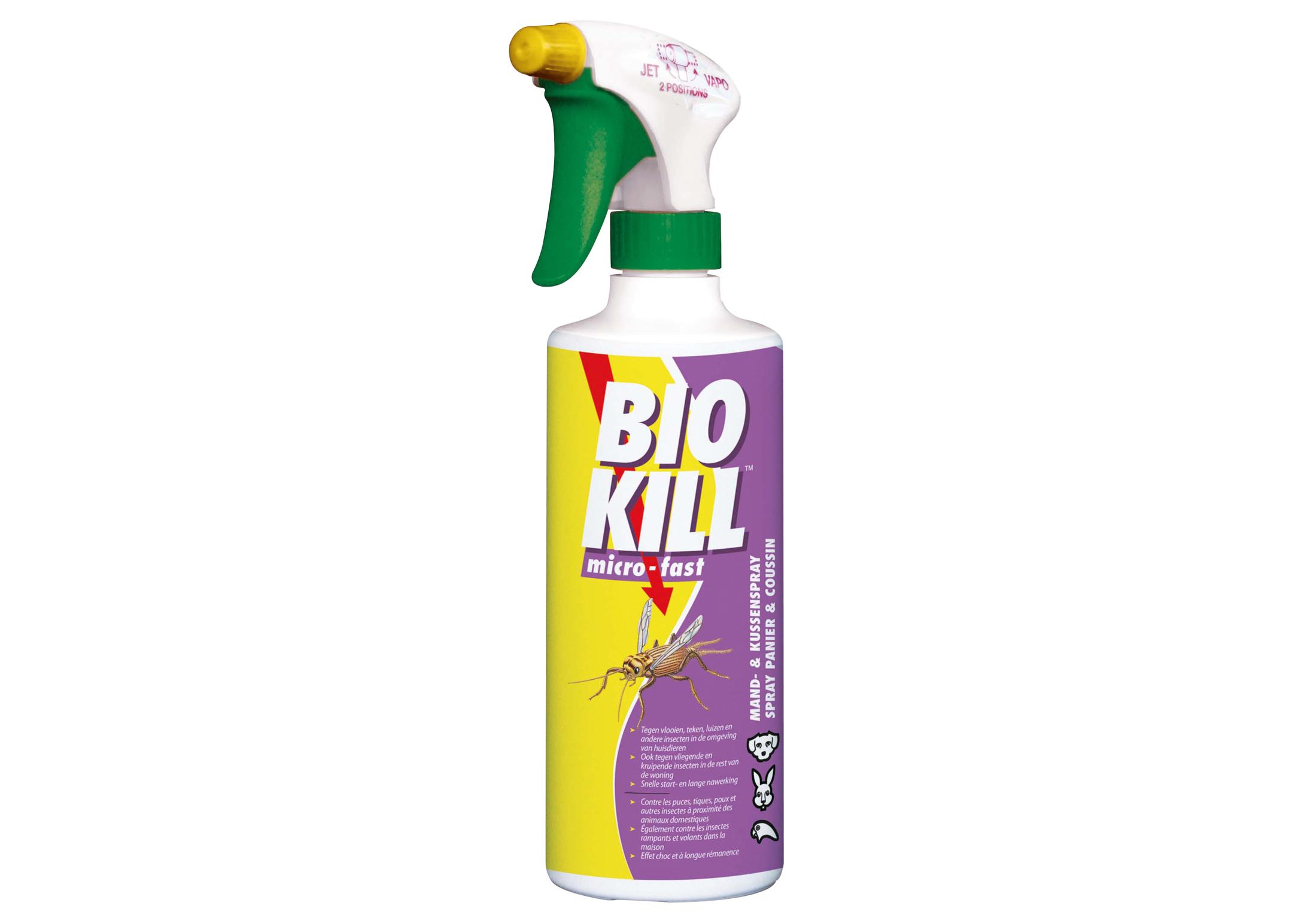 Bio Kill Micro-Fast Mand -en Kussenspray 450ml