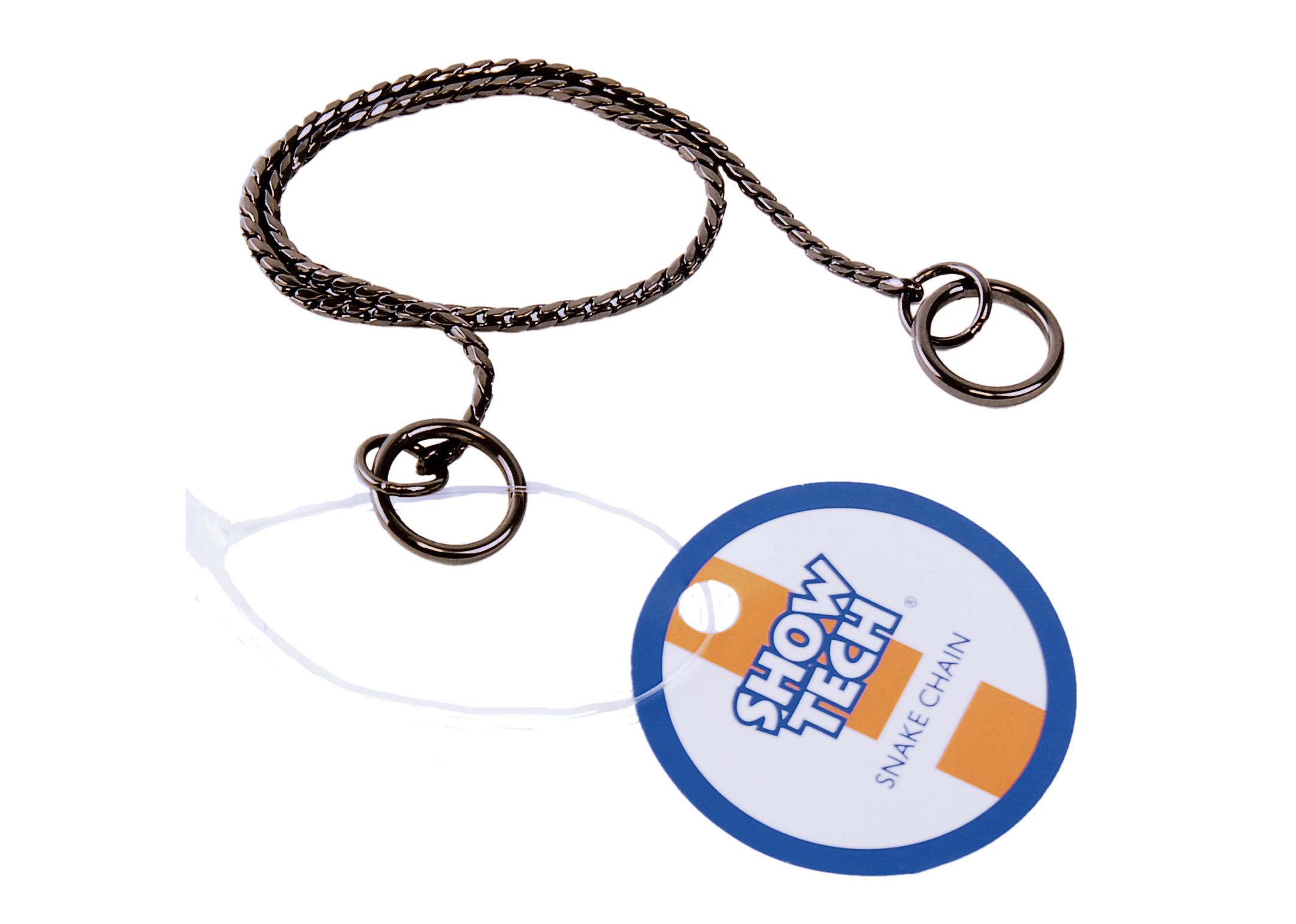 Show Tech Snake Chain Antraciet Showlijn Voor Honden
