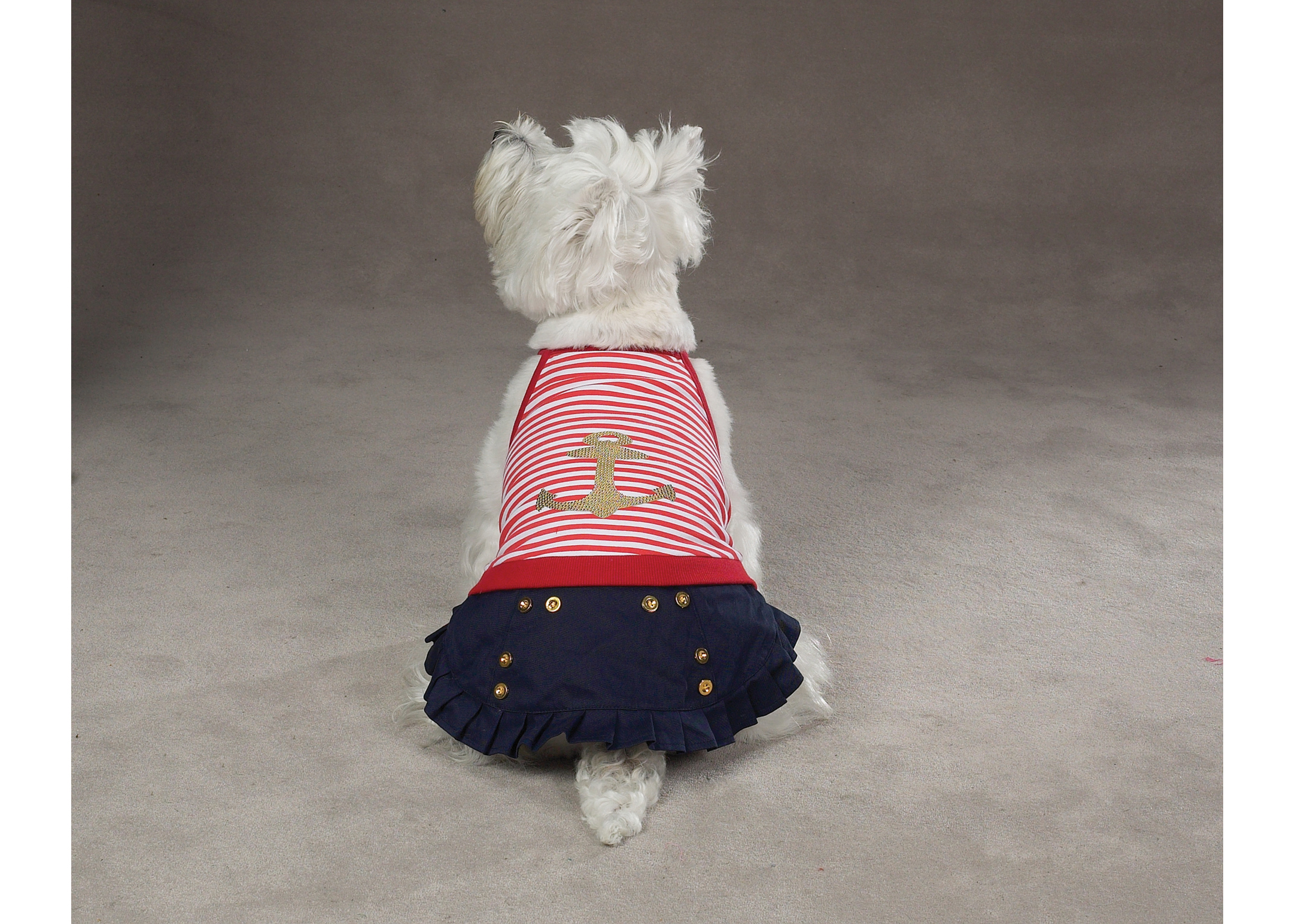 East Side Collection ESC Ships Ahoy Nautical Dress Attire For Dogs
