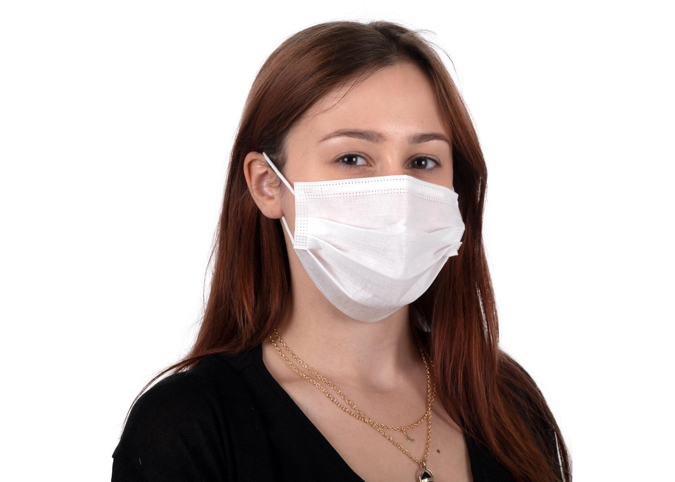 Non Woven Disposable Nanofiber Standard Mask 3 layers 10 pcs