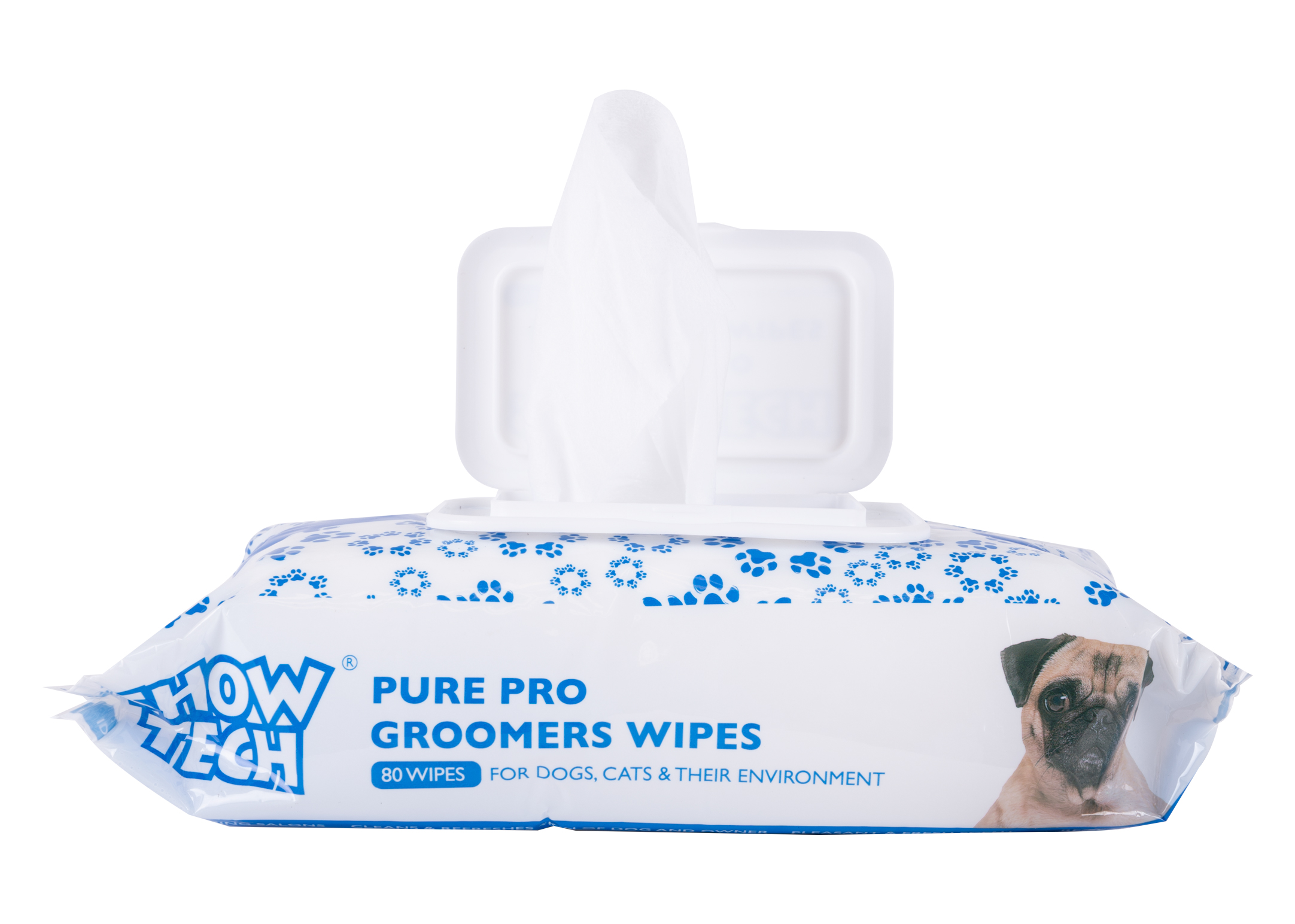 Show Tech Pure Pro Groomers Wipes - 80 pieces