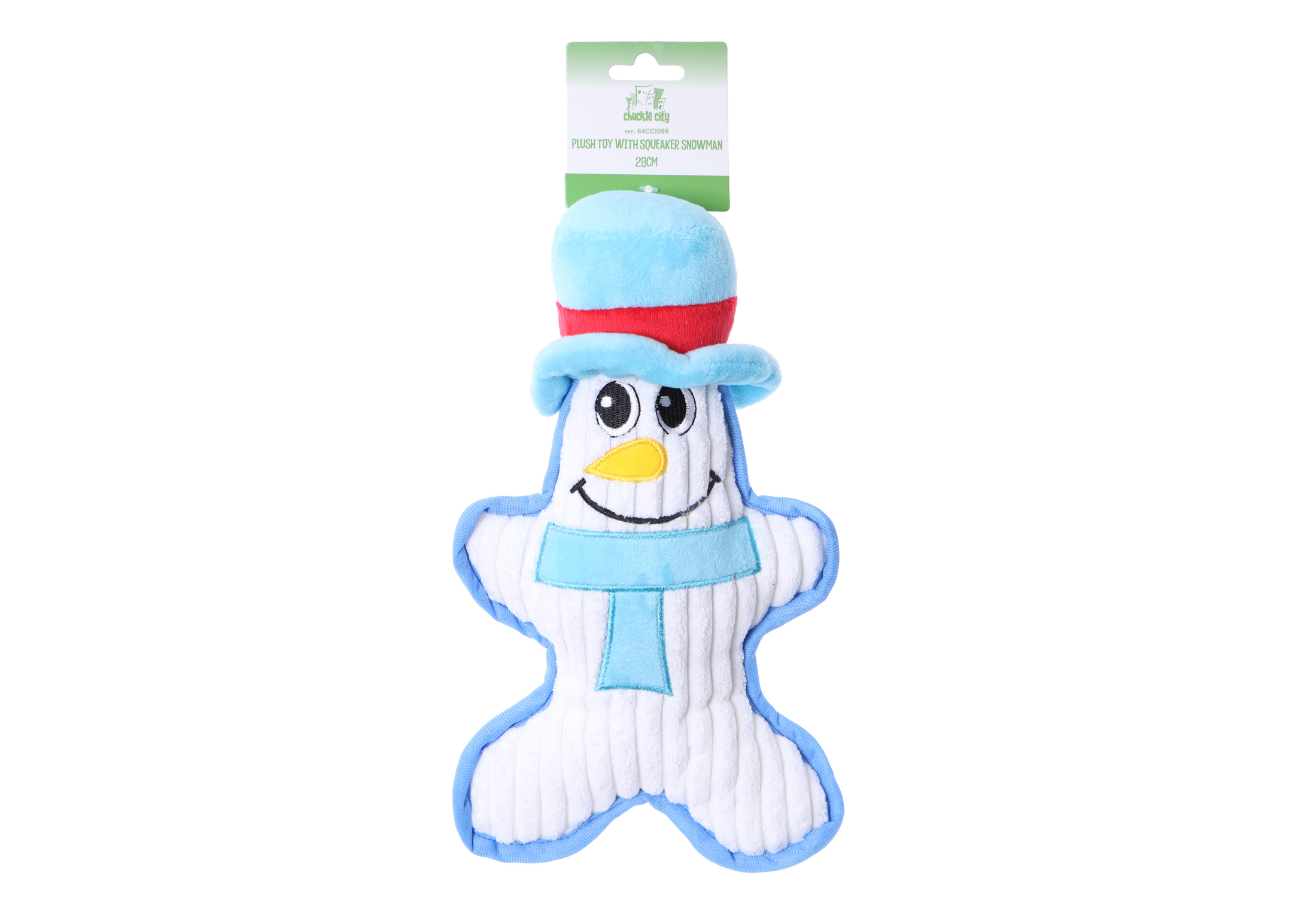 Chuckle City Plush Toy with Squeaker Snowman 28 cm