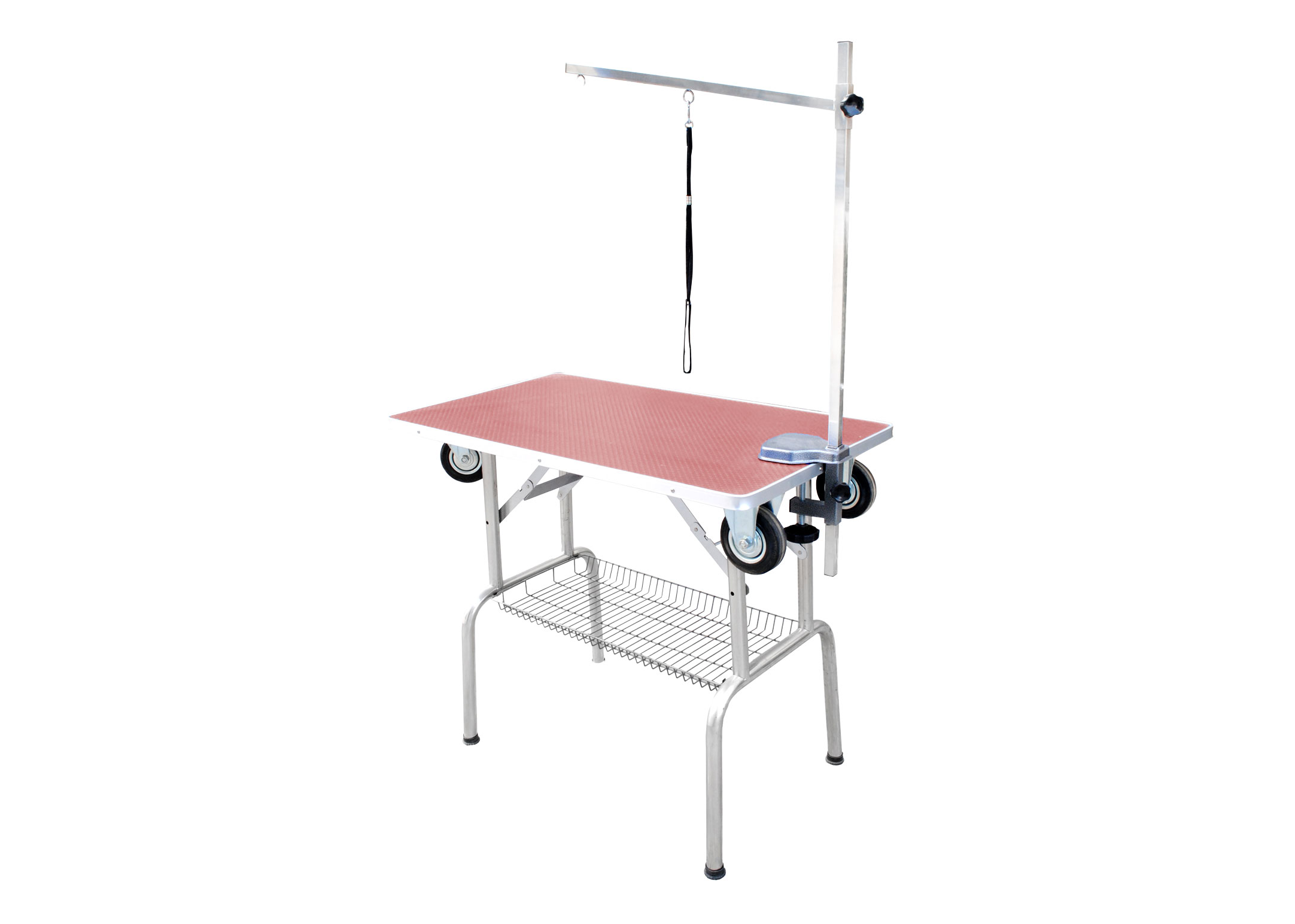 DEMO SS Trolley Table 95x55x78cmH Pink Show Table