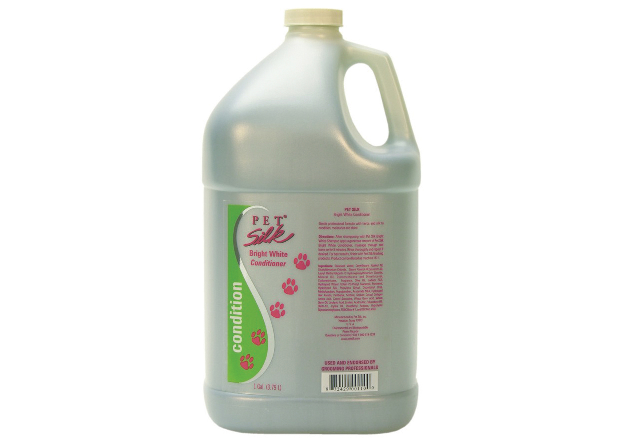 Pet Silk Bright White Conditioner For Dogs, Cats And Horses