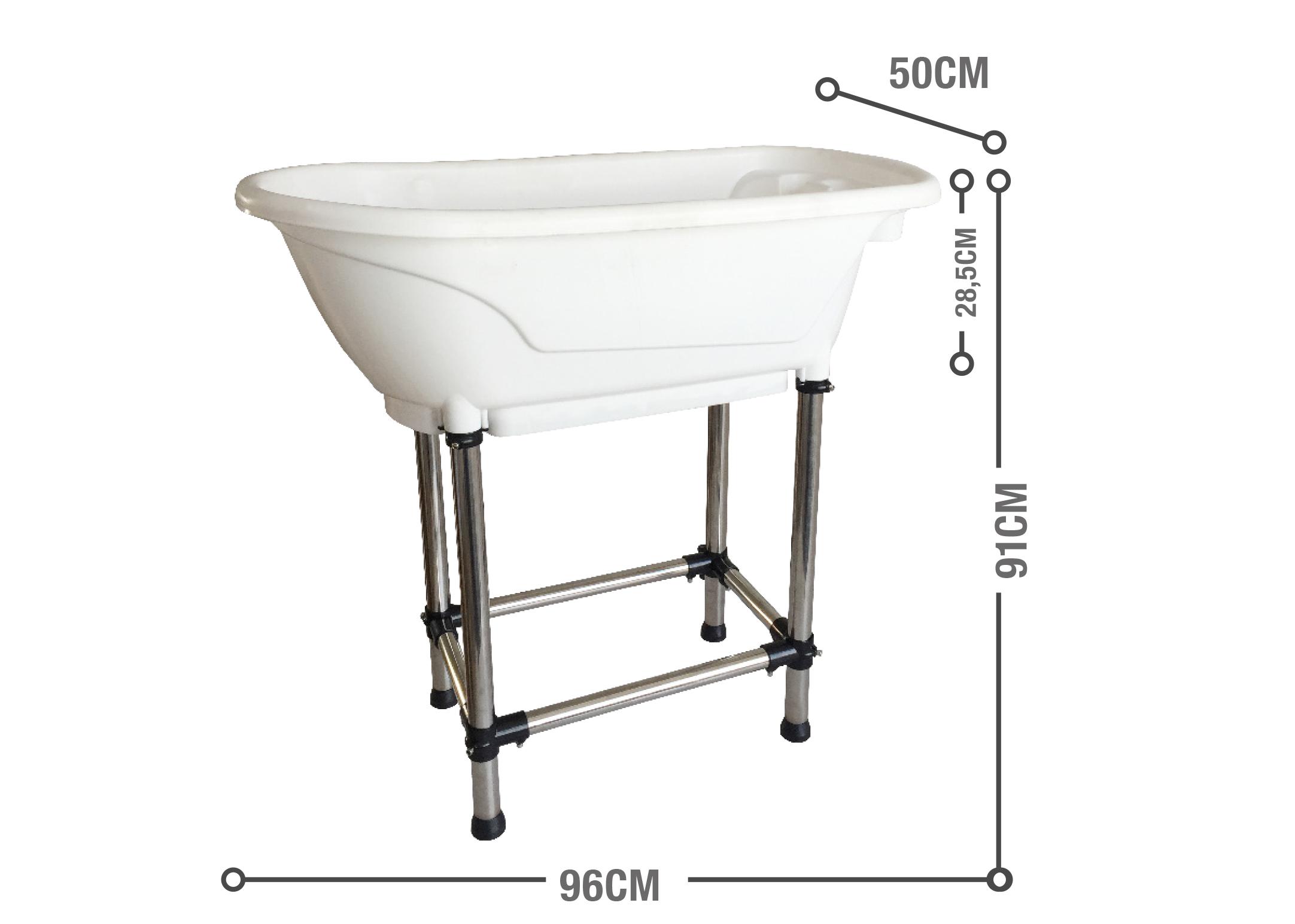 Show Tech Handy Tub M 96x50x91cm White Bath