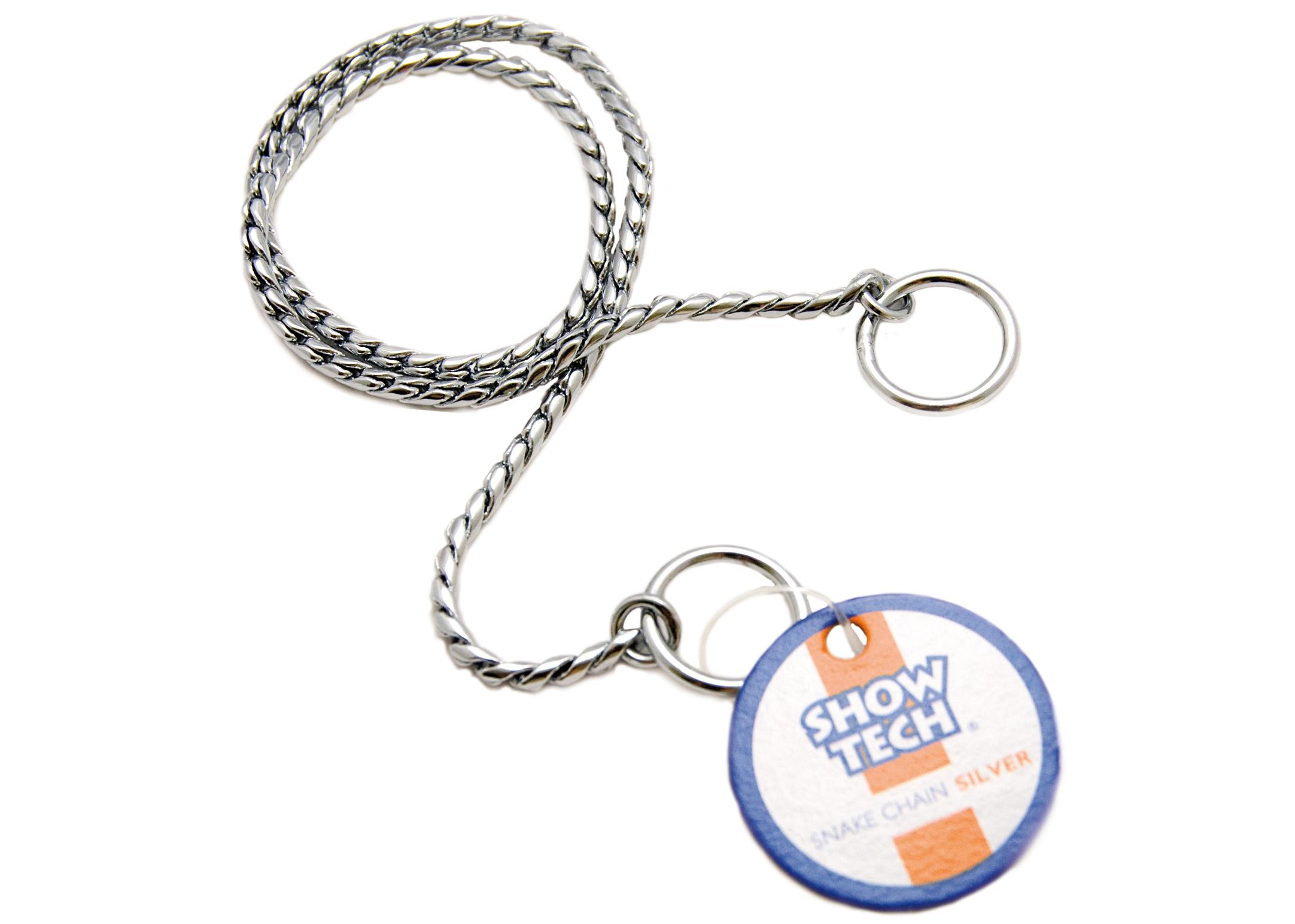 Show Tech Snake Chain Zilver Showlijn Voor Honden