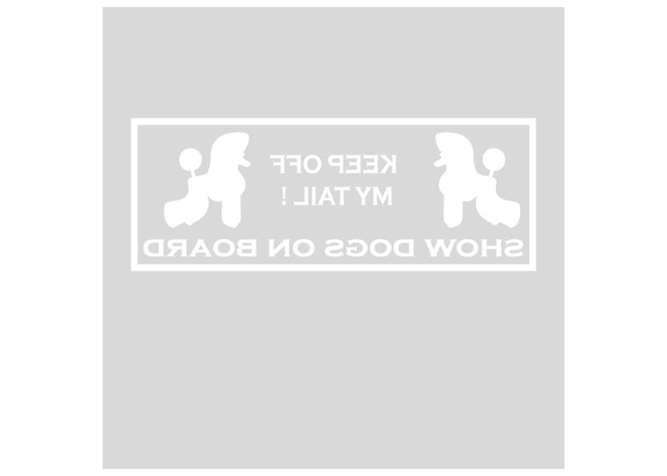 K-design Keep Off 22 x 8 ,3 cm Auto sticker Voor Hondentrimmers