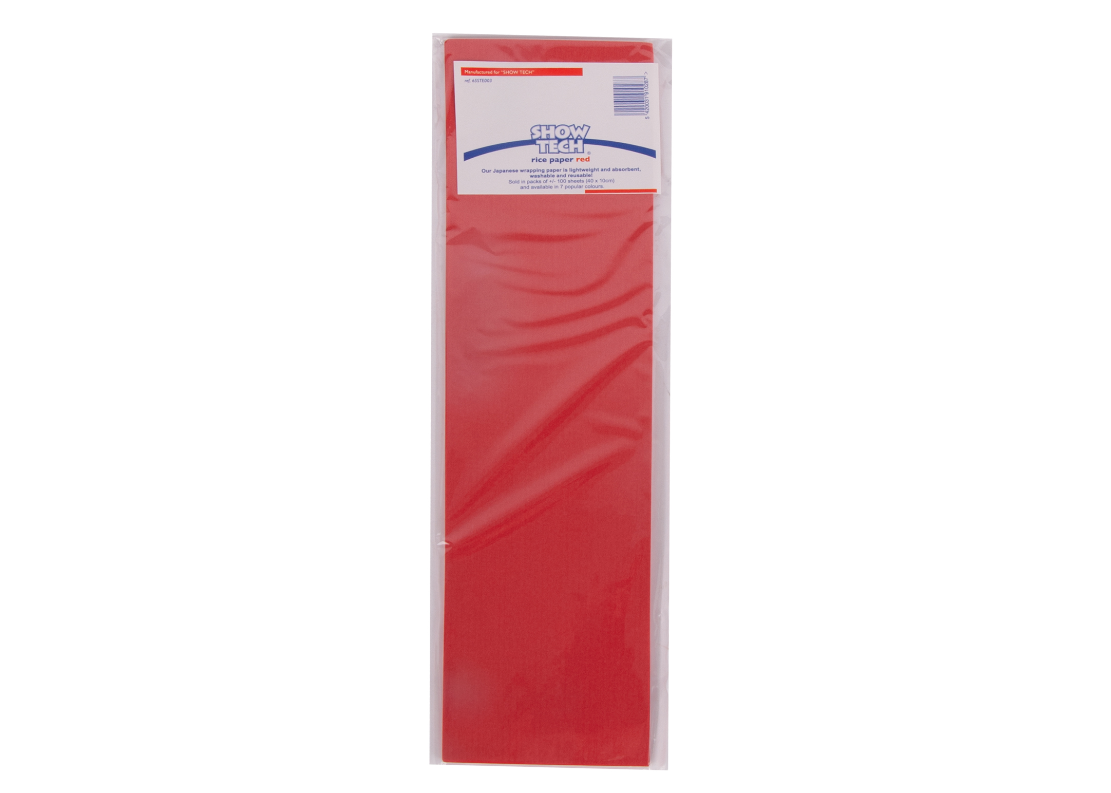 Show Tech Rice Paper Red 100 pcs Wrapping Paper