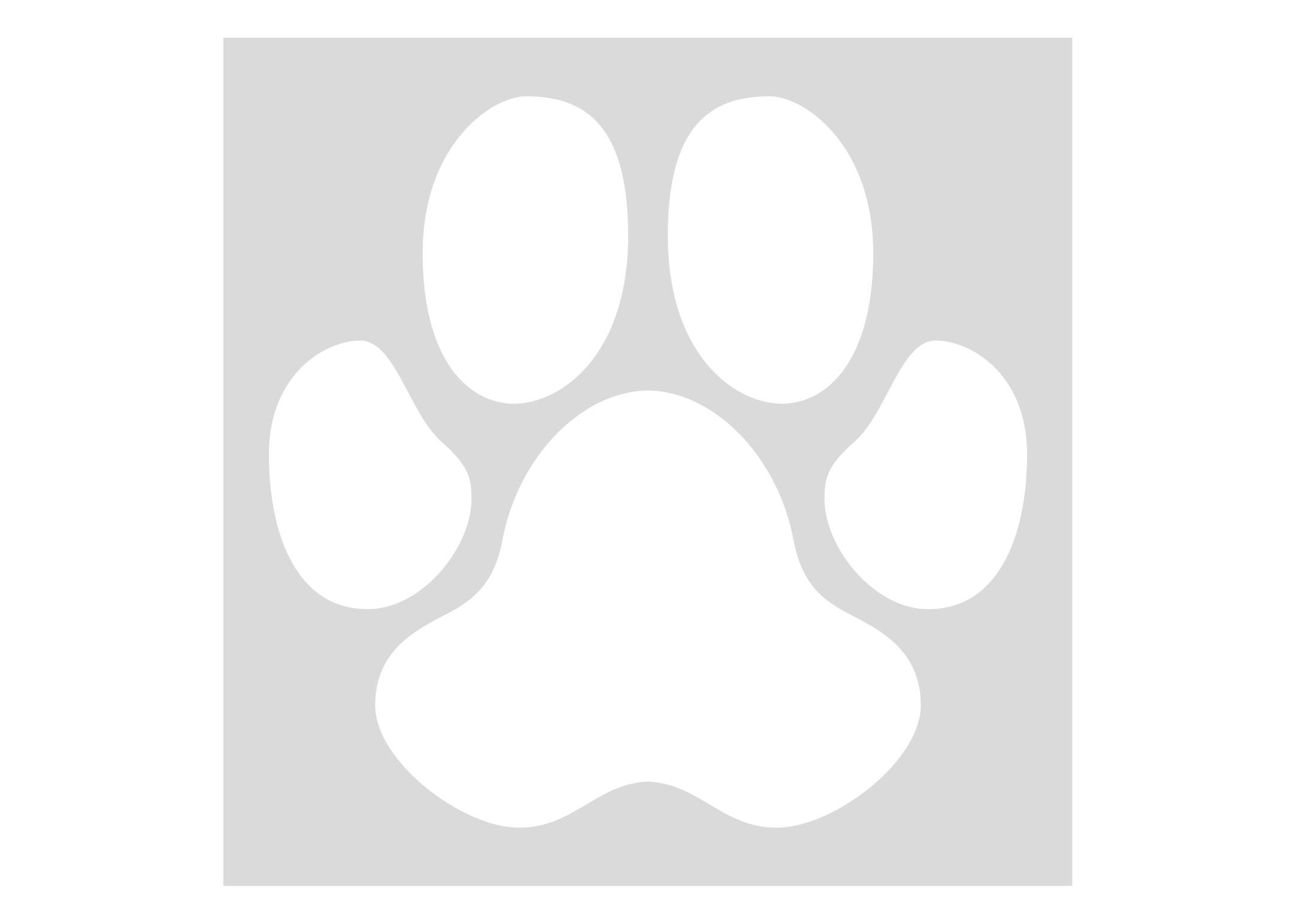 K-design Pawprint Sticker