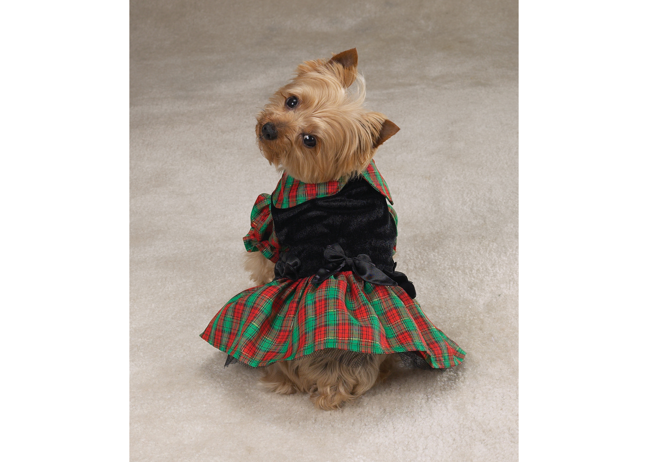 Zack & Zoe Xmas Tartan Holiday Dress Attire For Dogs