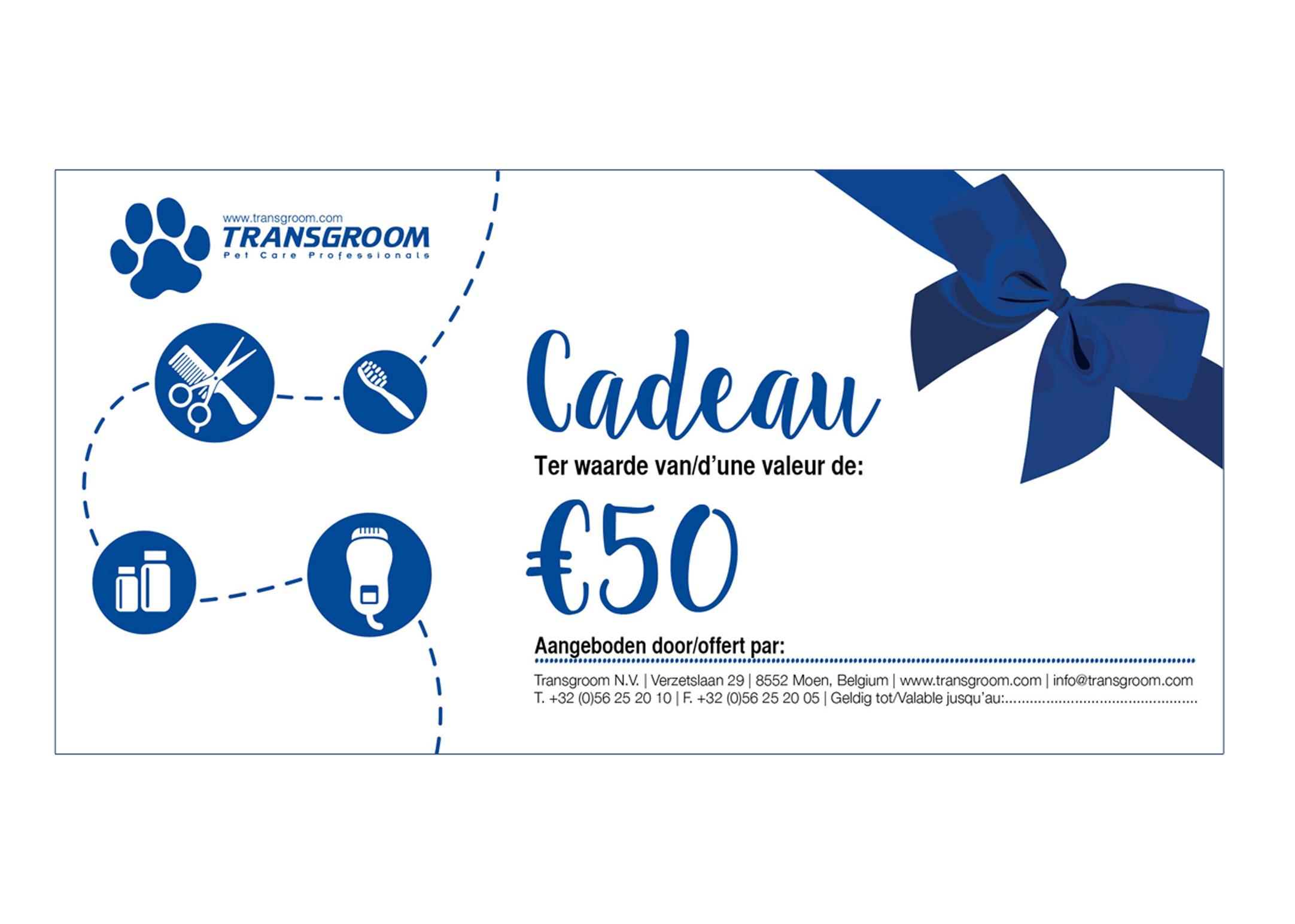 Chèque Cadeau € 50