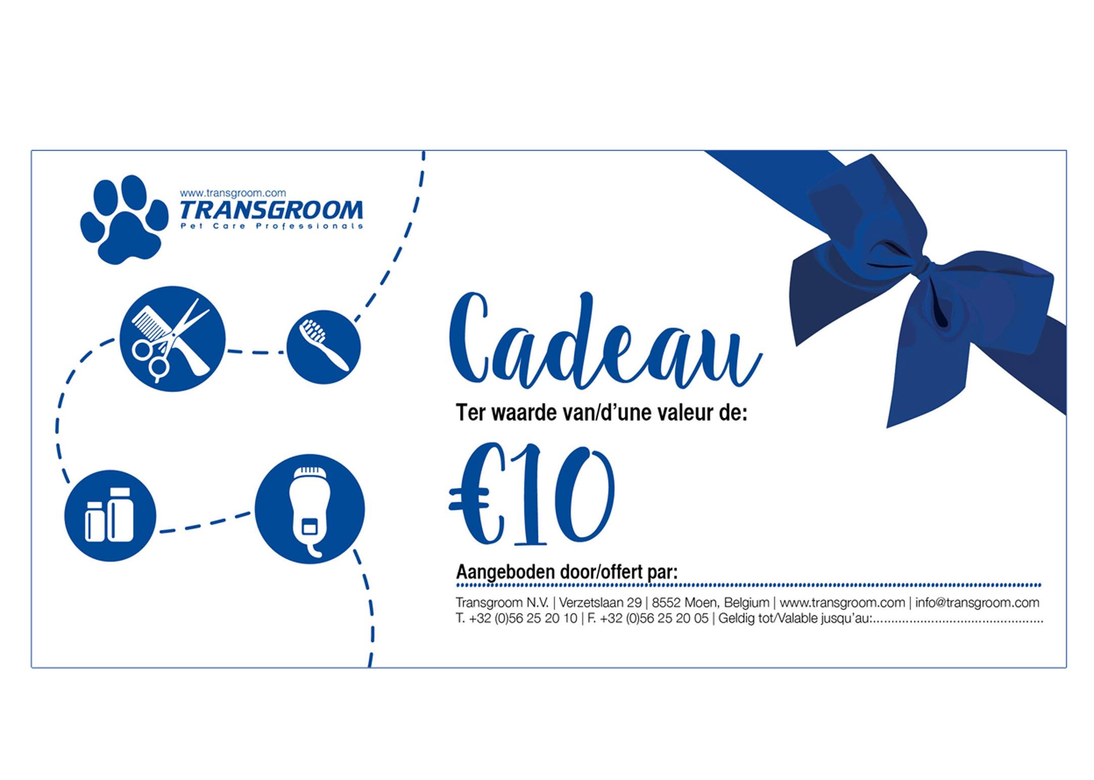 chèque cadeau €10