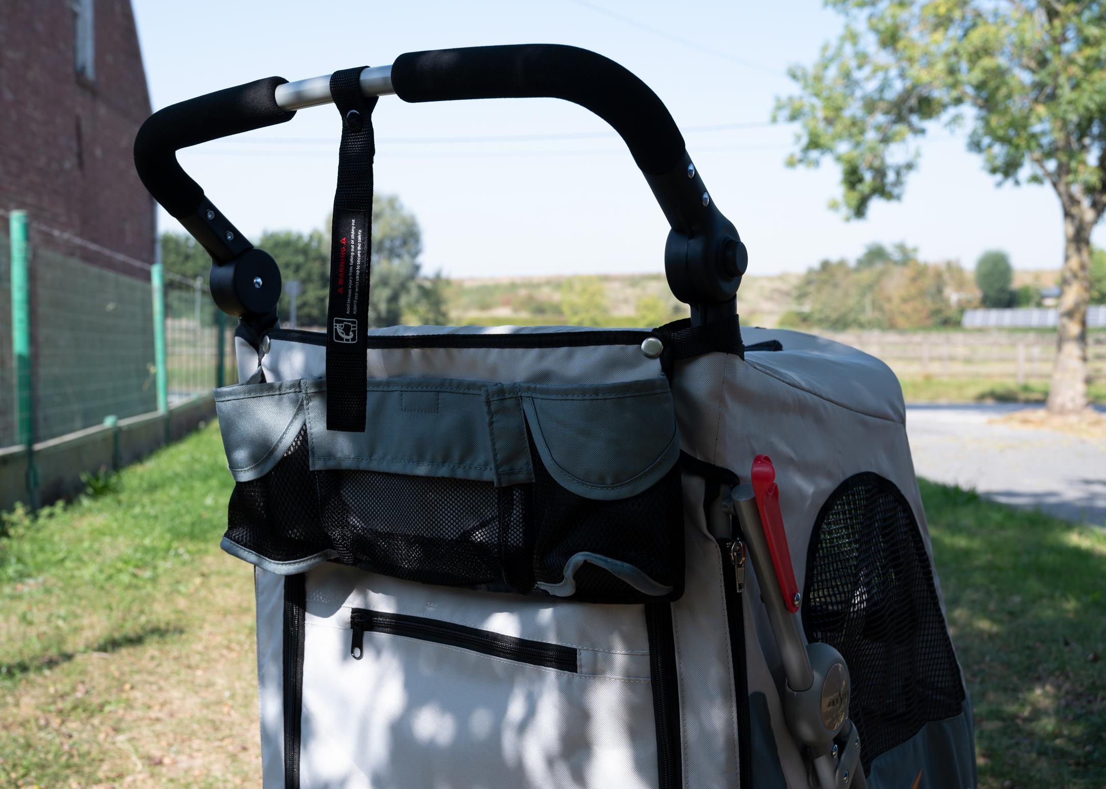 Petstro Medium 3-Wheel Buggy, Grey