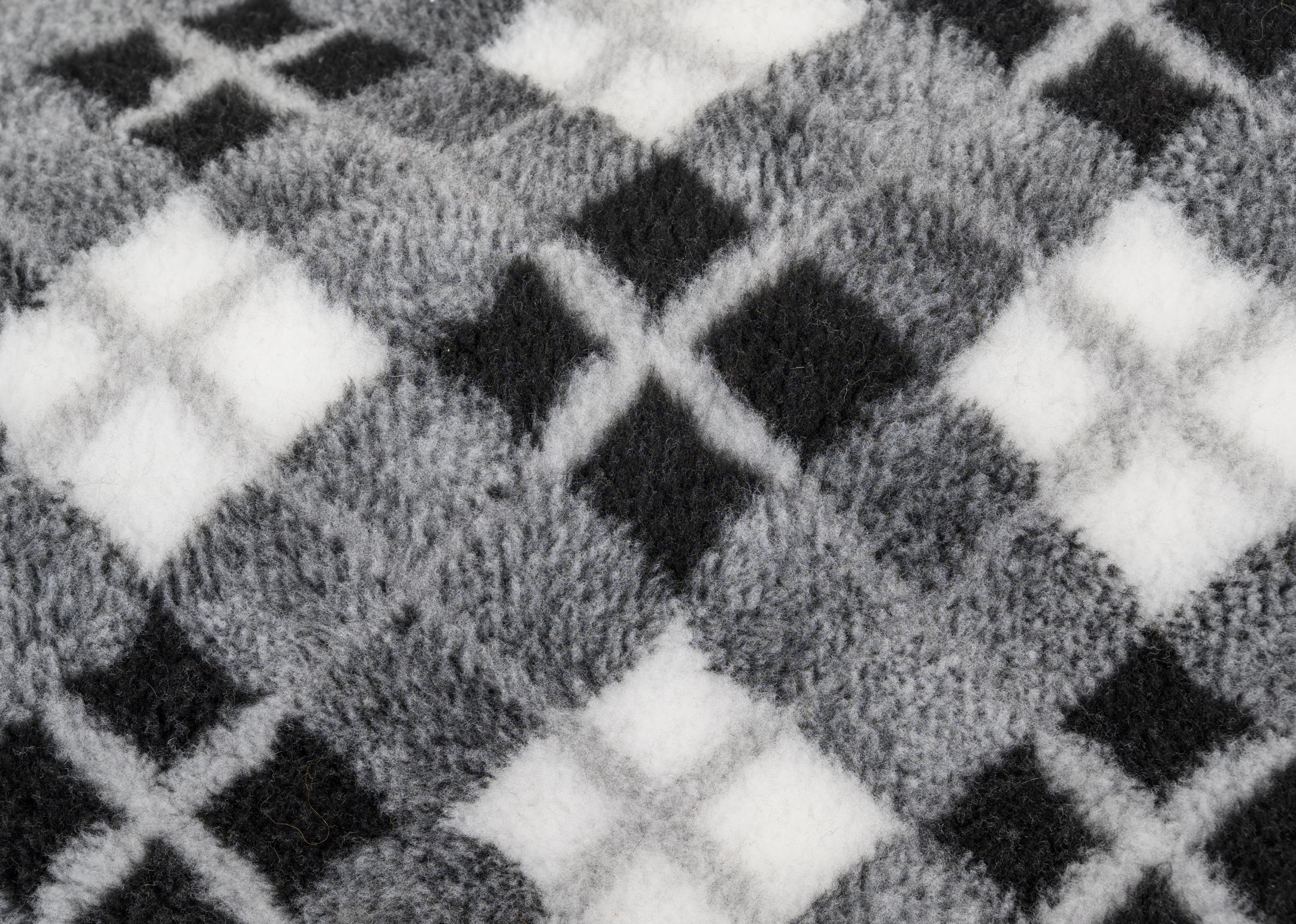 Show Tech Pet Bed Anti-Slip Argyle Grey 150 x 100 cm
