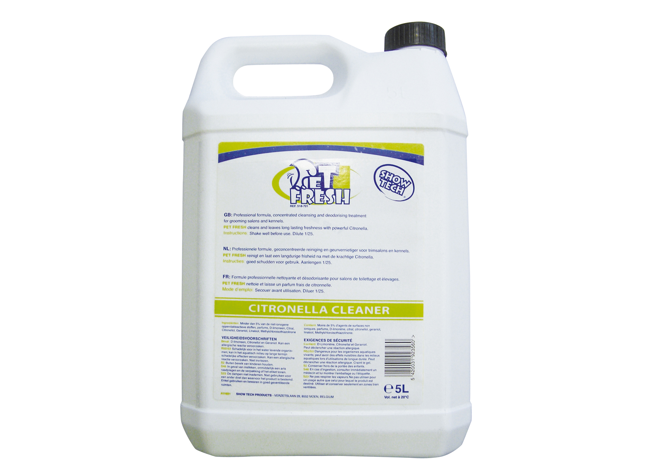 Show Tech Pet-Fresh Citronella Cleaner For Groomers And Hairdressers
