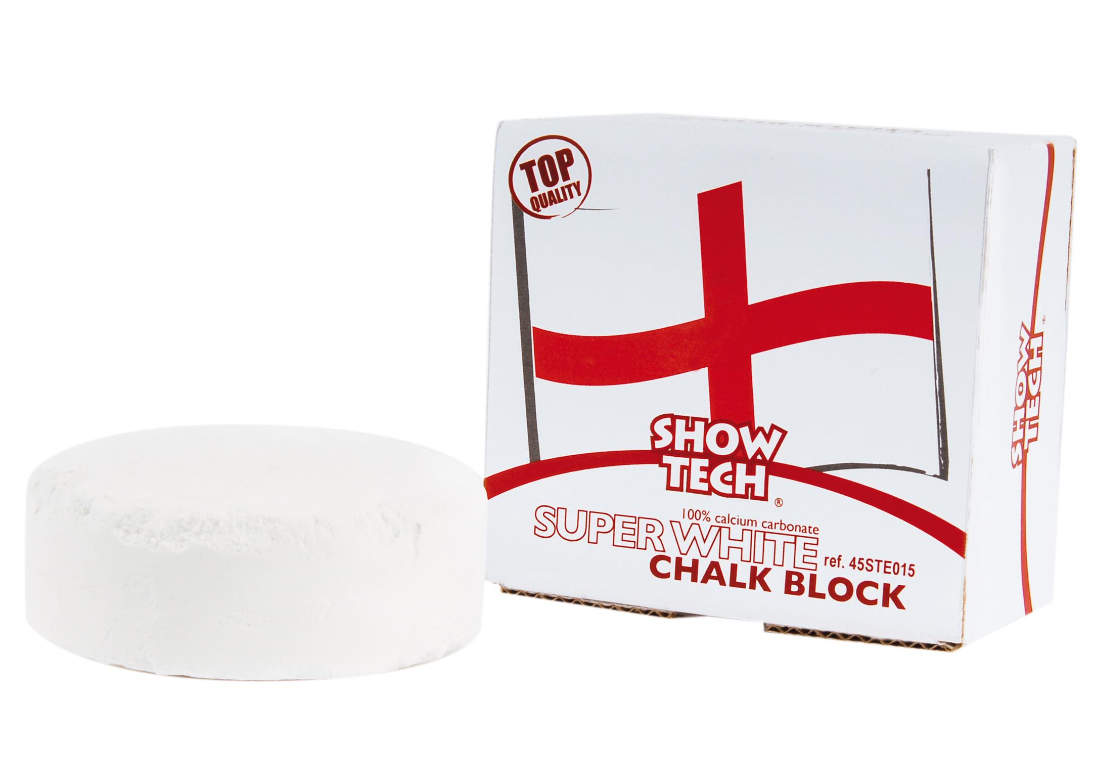 Show Tech Bloc de Craie Anglais Rond Super Blanc Bloque de craie
