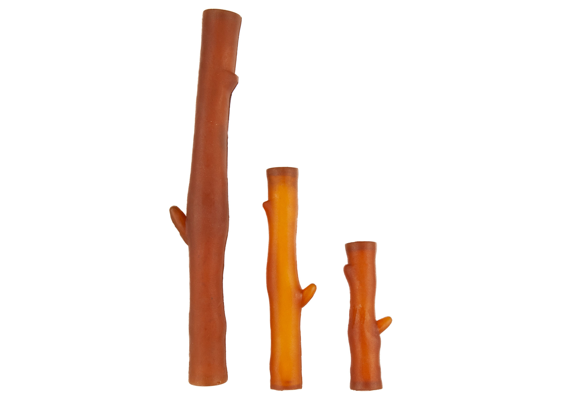 Chuckle City 100% Natural Organic Rubber Stick with squeaker 12cm