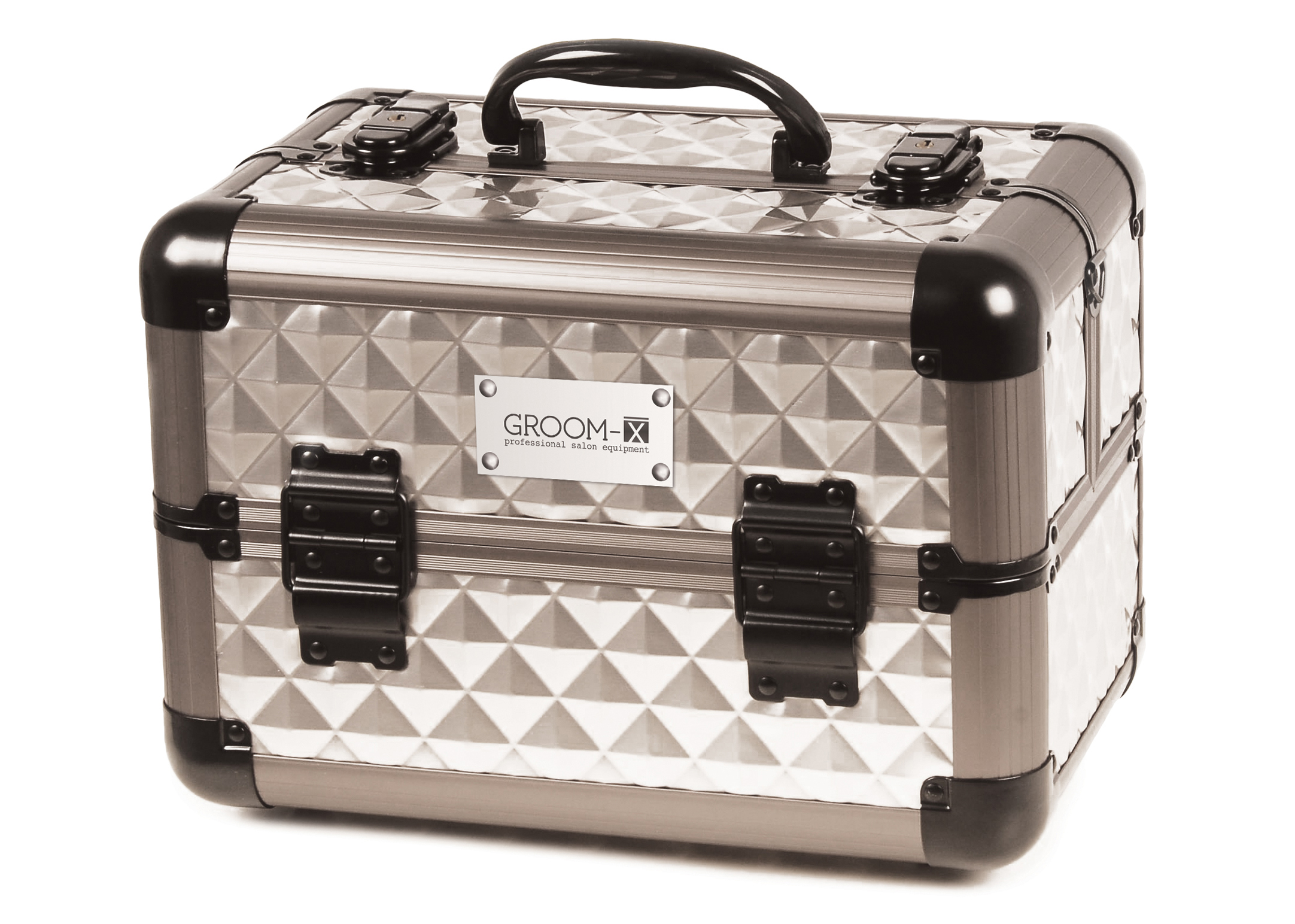 Groom-X Grooming Case Mini Portable with Diamond ABS Panel