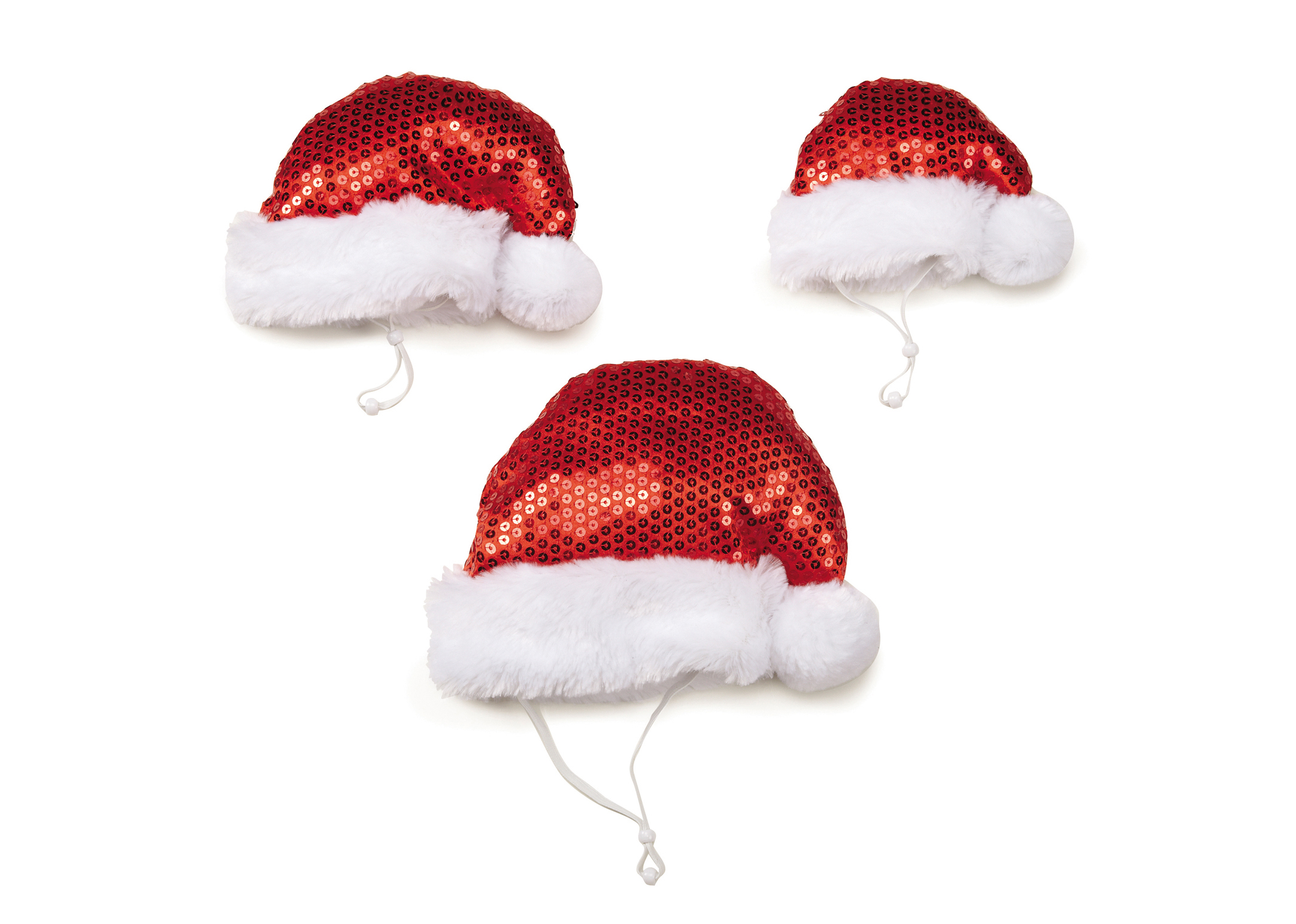 Zack & Zoe Christmas Sparkling Santa Hat Christmas Attire For Dogs