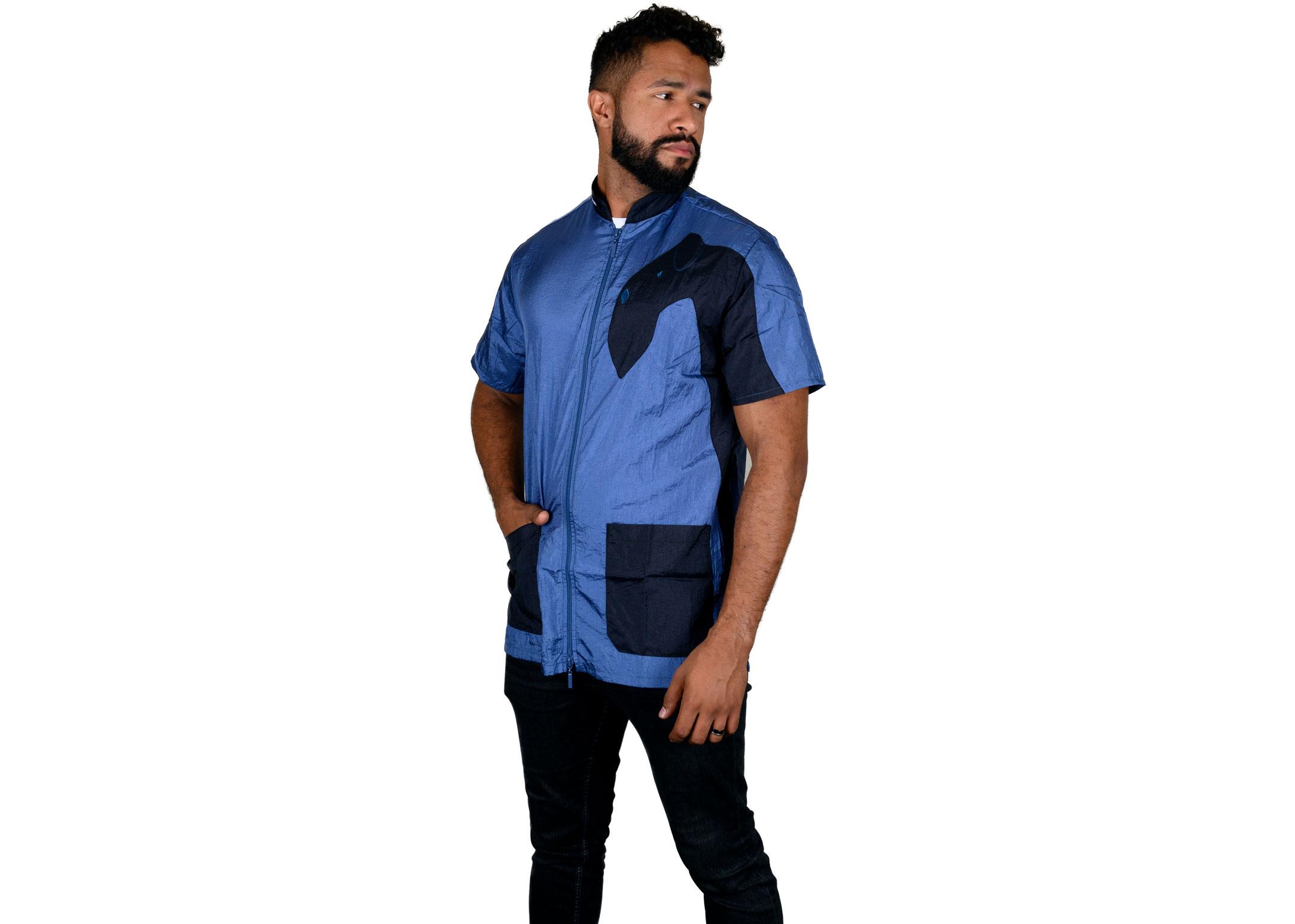 Tikima Vico Cani Shirt S Cobalt blue/black