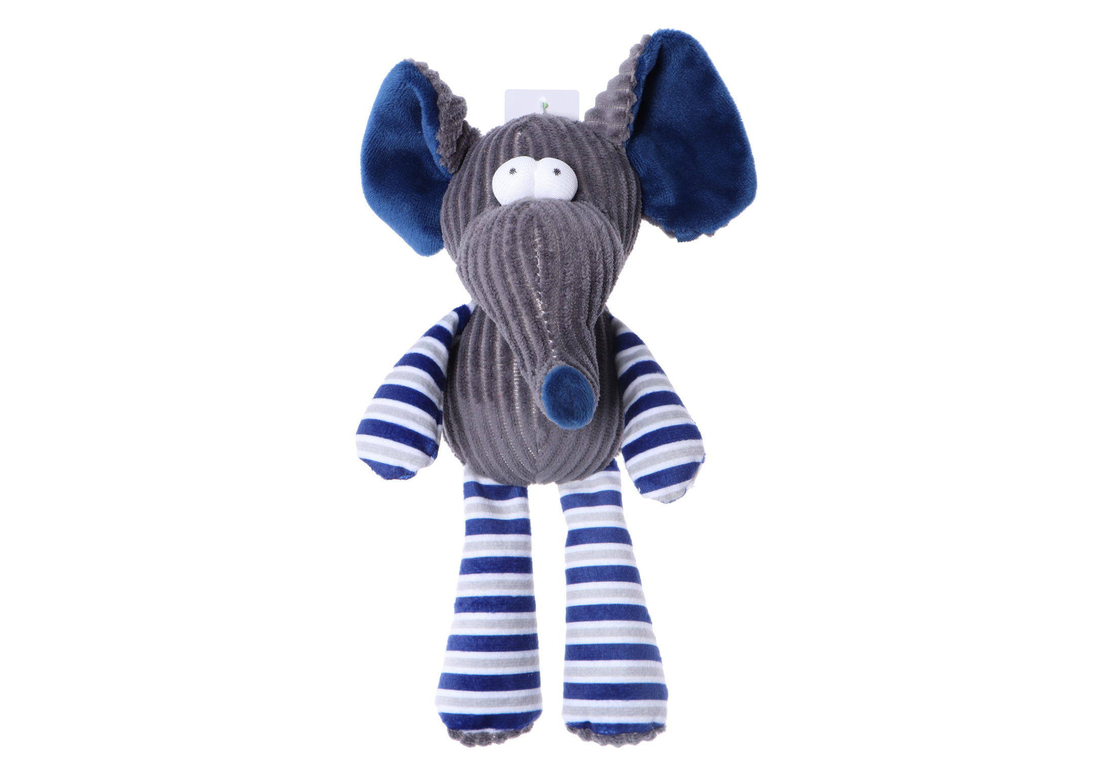 Chuckle City Plush Toy with Squeaker Elephant 25 cm