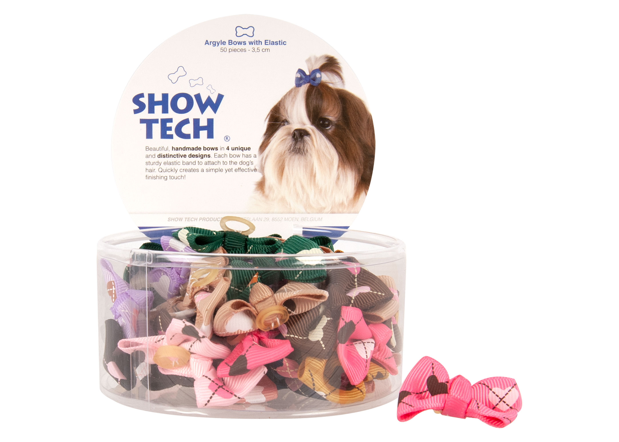 Show Tech Argyle Bows with Elastic 50 pcs Bows