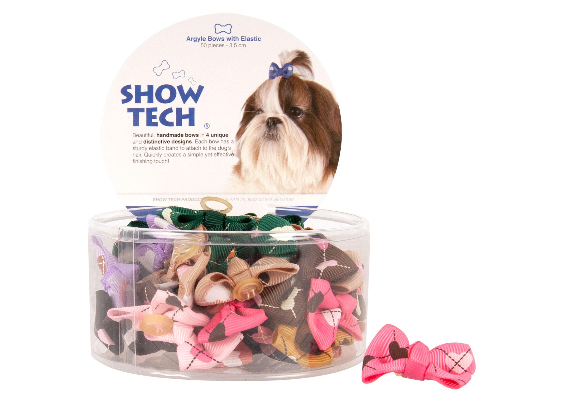 Show Tech Argyle Bows with Elastic 50 pcs Bows