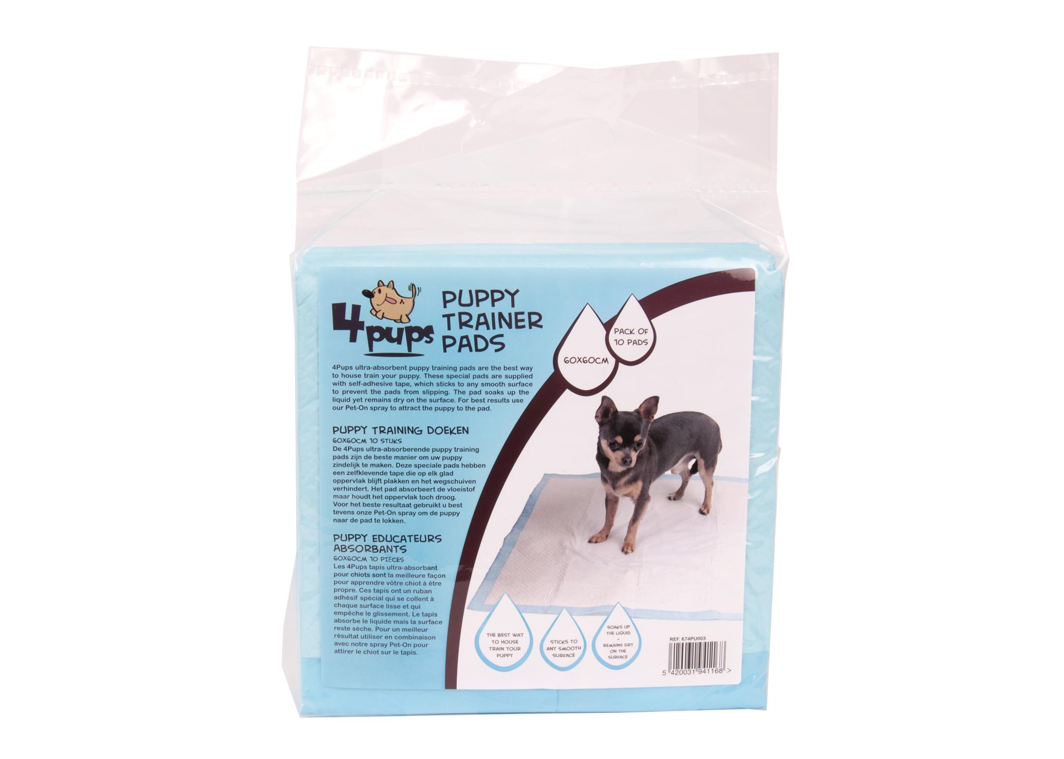 4Pups Puppy Trainer Pads 60x60cm 10pcs House-Training Aid