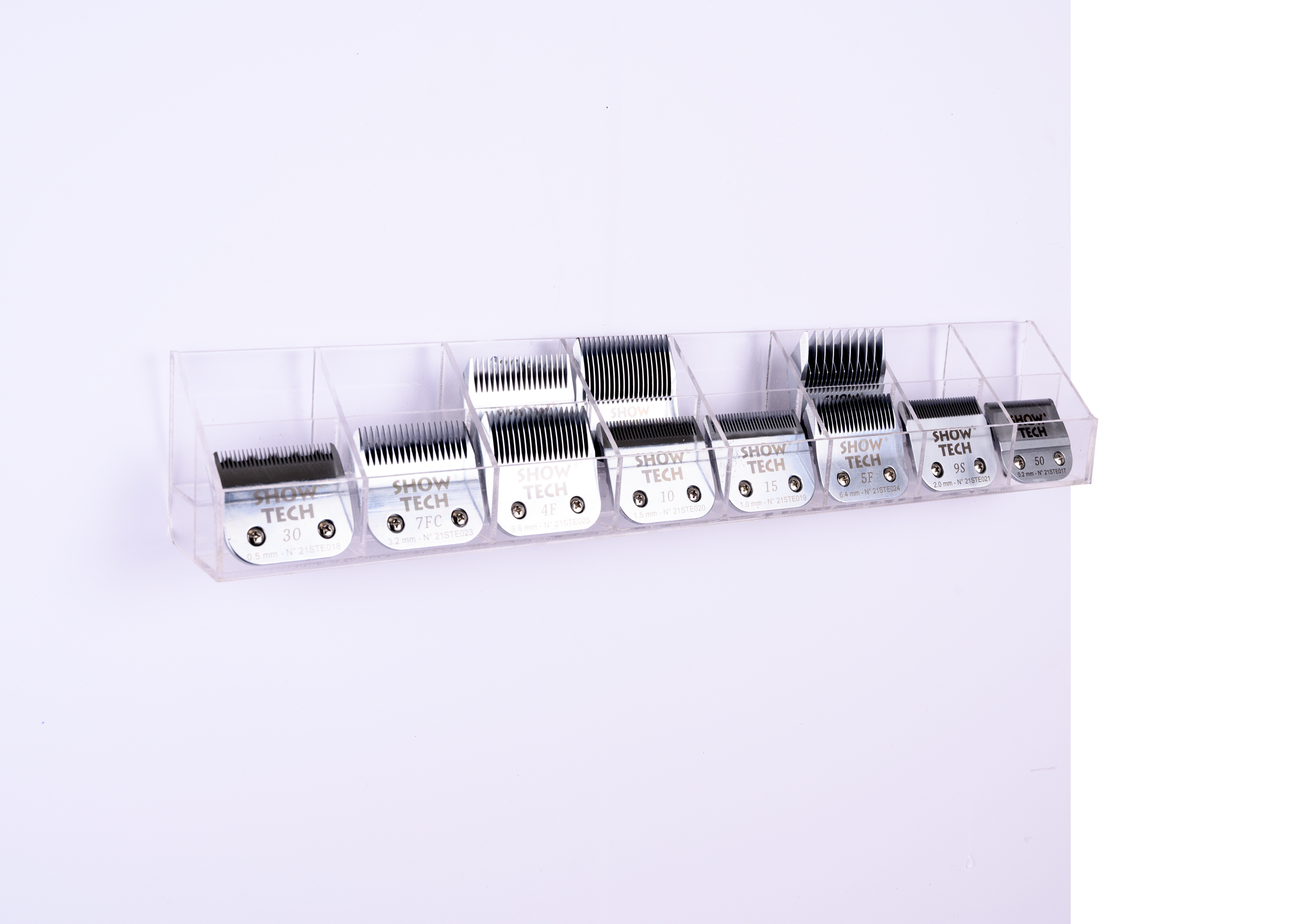 Show Tech Wall Mounted Plexi Blade Holder, holds 16 Blades