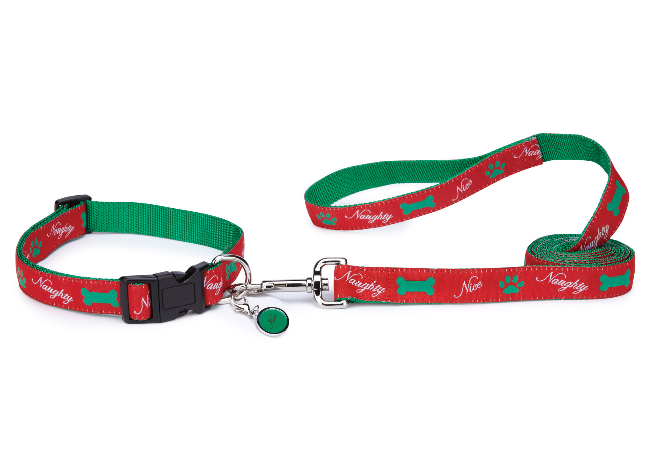 Zack & Zoe Xmas Naughty or Nice Collier Rouge Pour Chiens