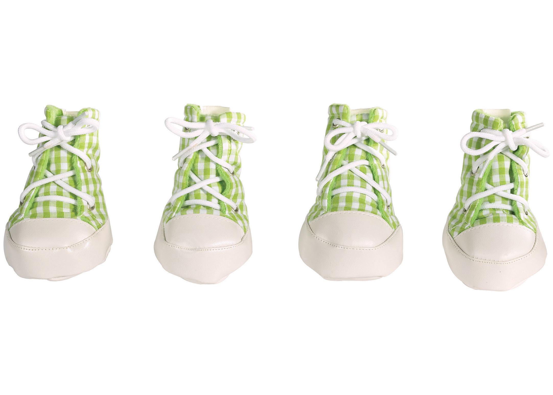 East Side Collection Gingham Boots Attire For Dogs