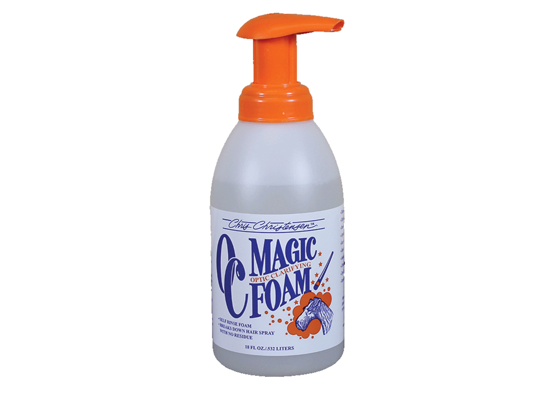 Chris Christensen Systems Optic Clarifier Magic Foam Self-Rinse For Dogs, Cats And Horses