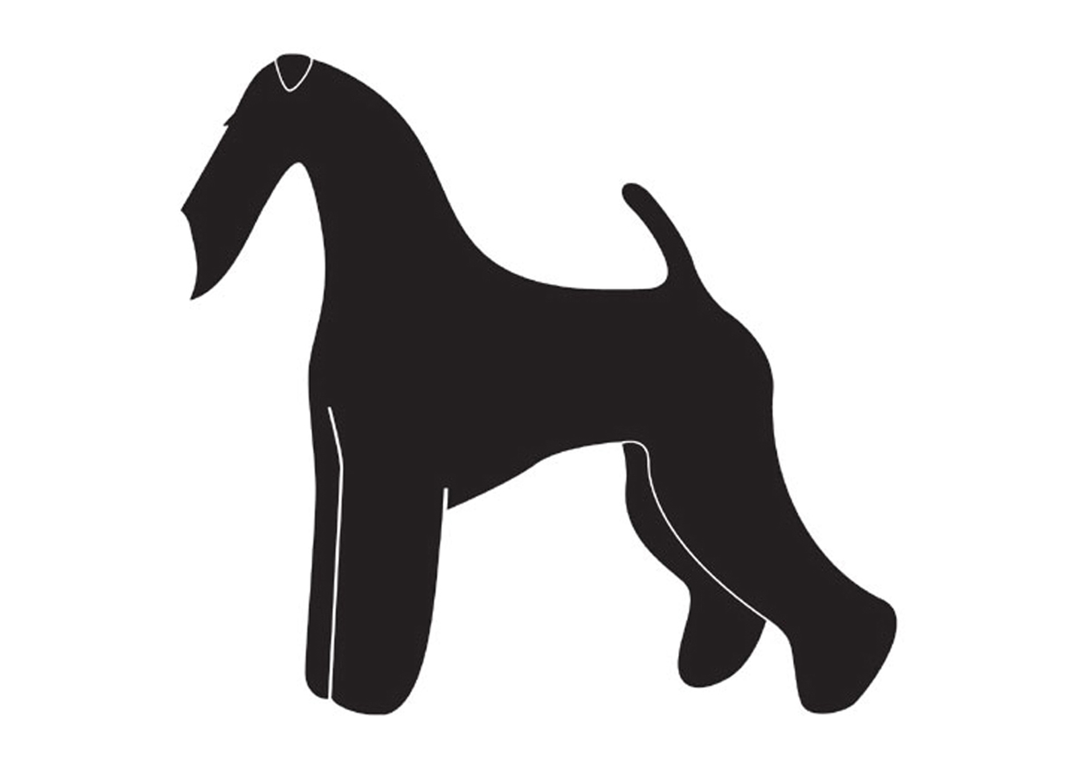 K-design Airdale Terrier Sticker For Groomers