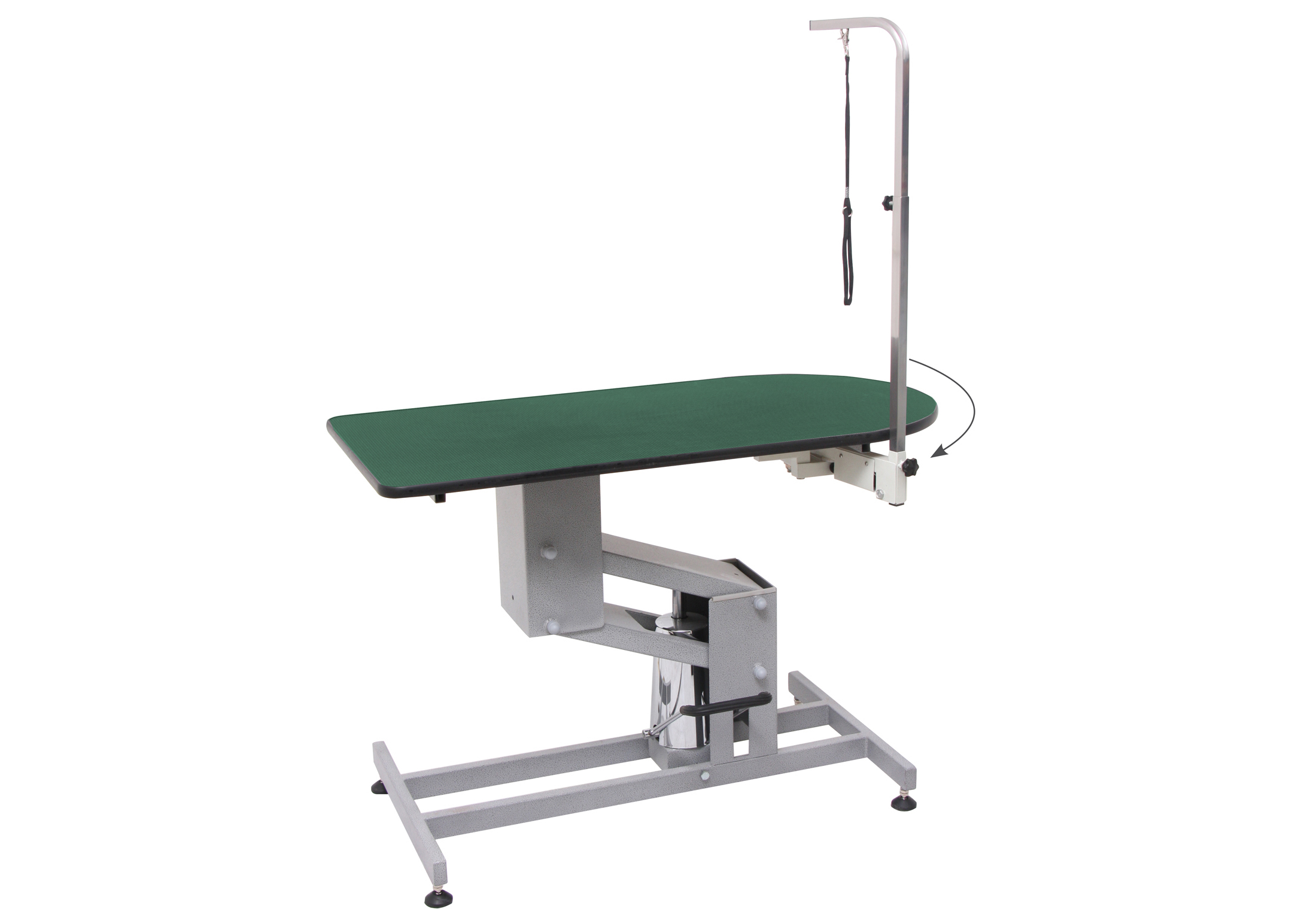 Groom-X Extra-Large Hydraulic Grooming Table 120x60x48-102cmh with Swing Control Post