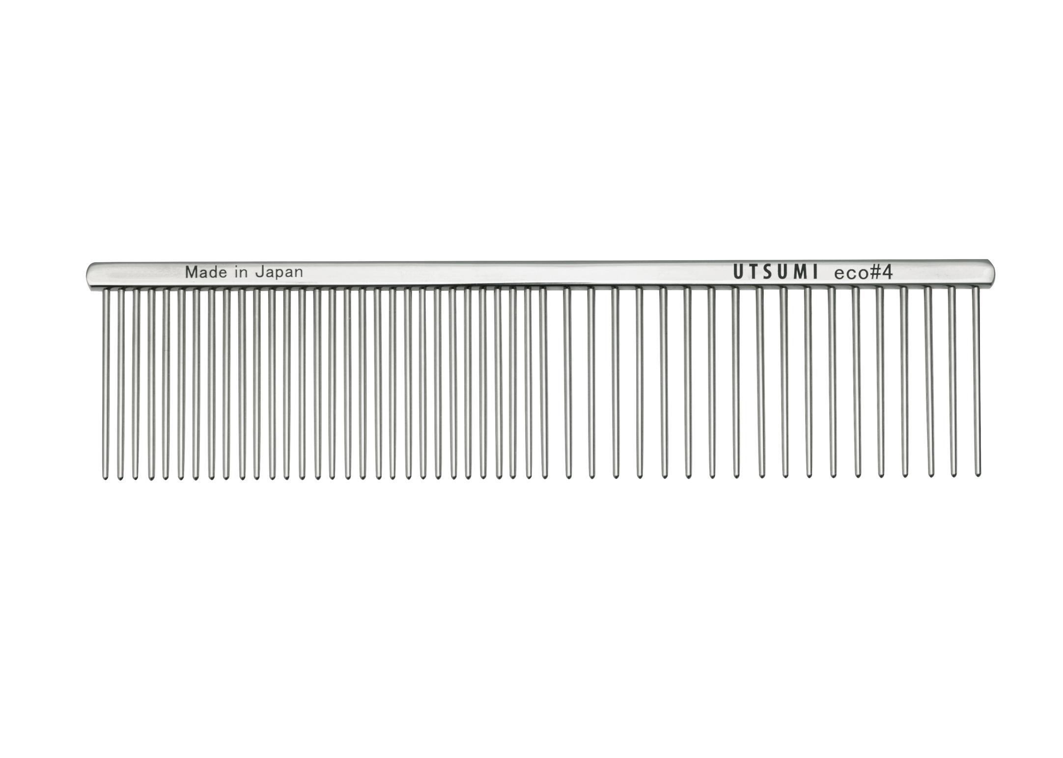 Utsumi Eco#4 Kam Zilver 19cm, 4cm lange Tanden Kam
