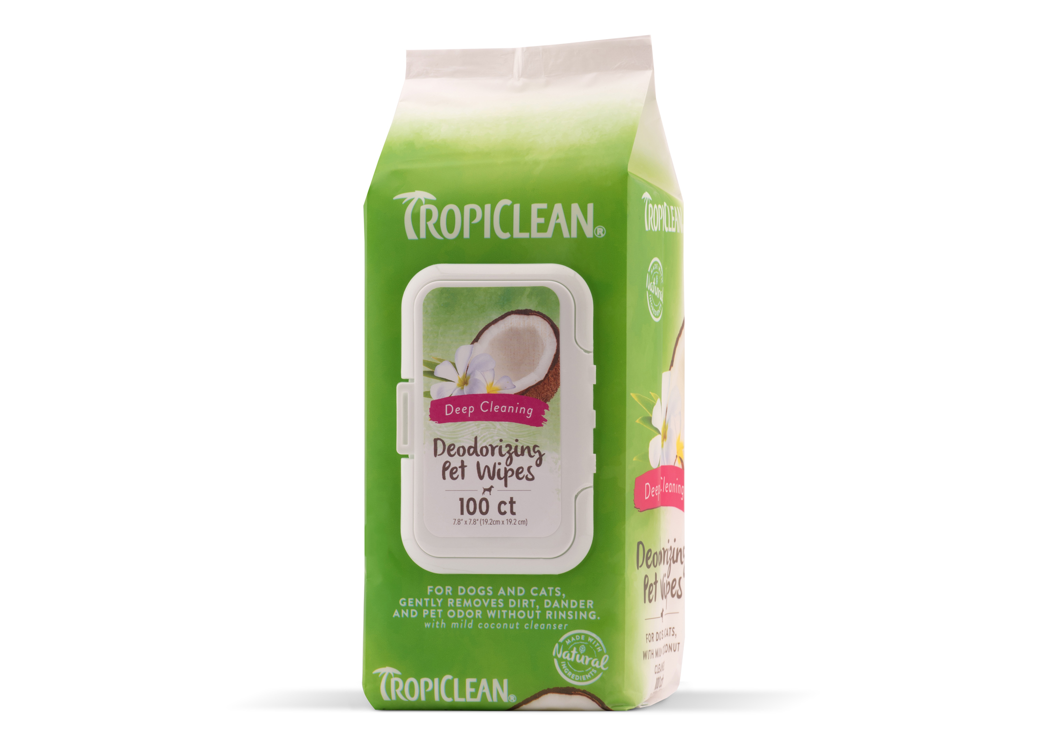 Tropiclean Deep Cleaning Wipes 100 pcs