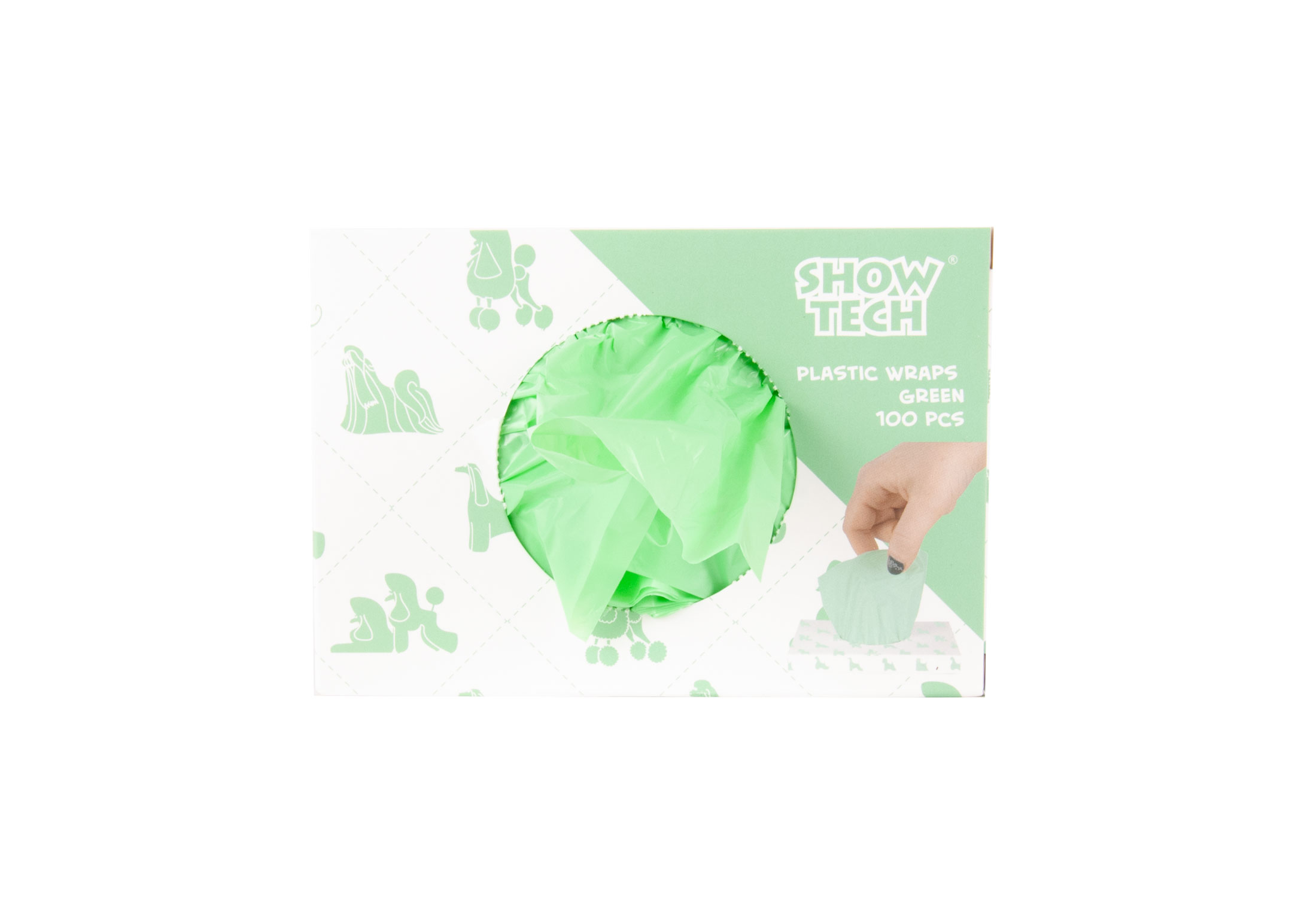 Show Tech Plastic Wraps Green (15x30cm)-100 pcs Wraps