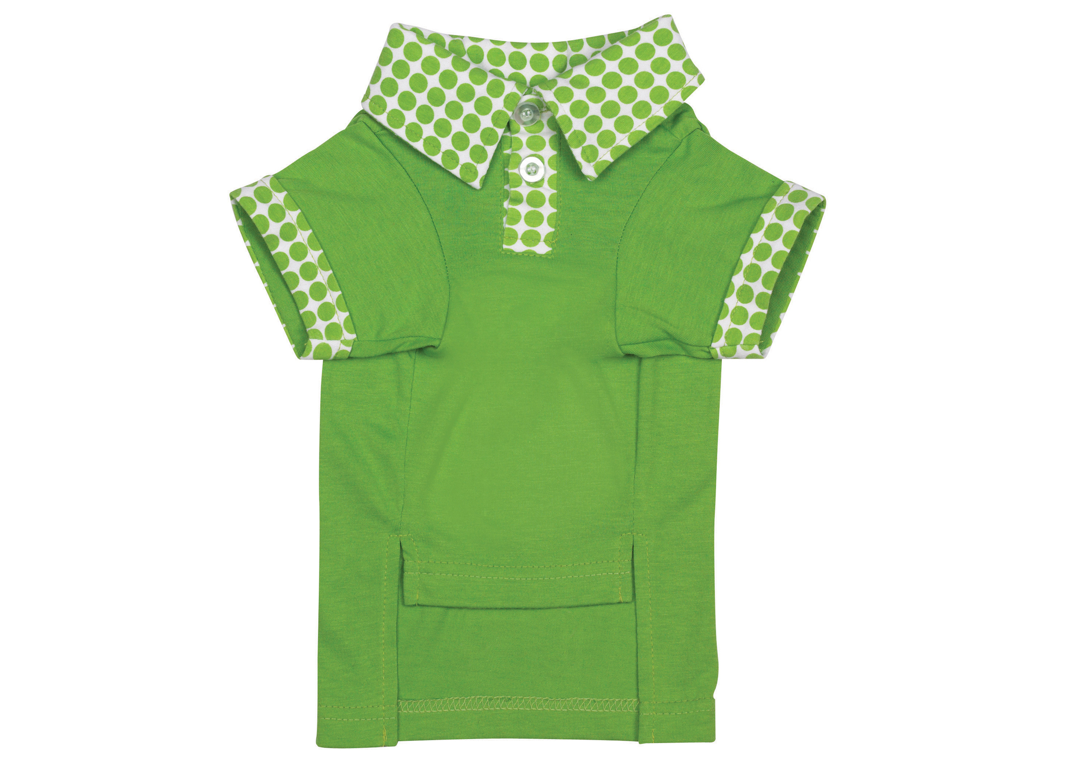 Zack & Zoe Zack&Zoey Button Candy Polo Parrot Green Attire For Dogs