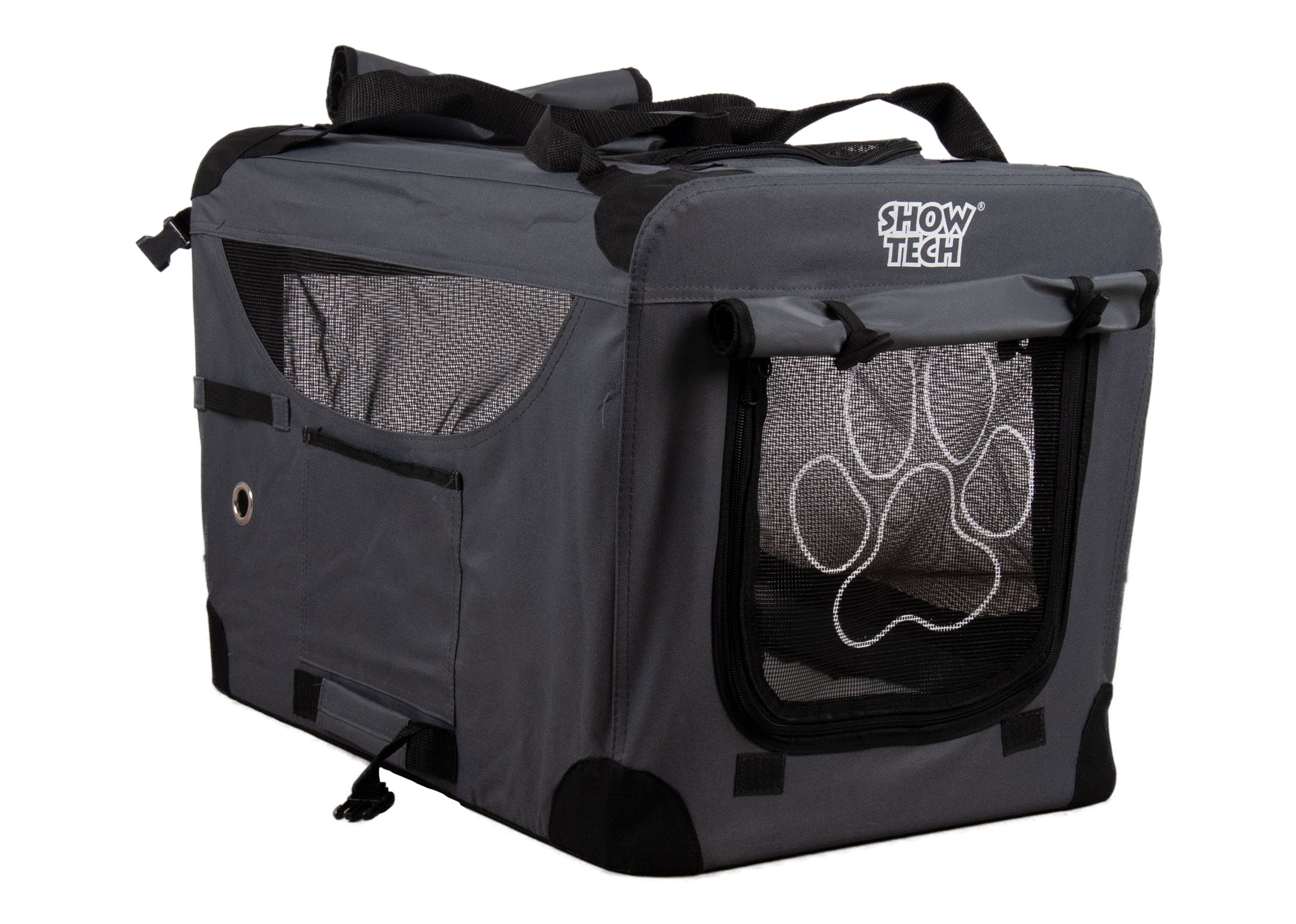 Show Tech Easy Crate Gris x Noir Cage de Transport
