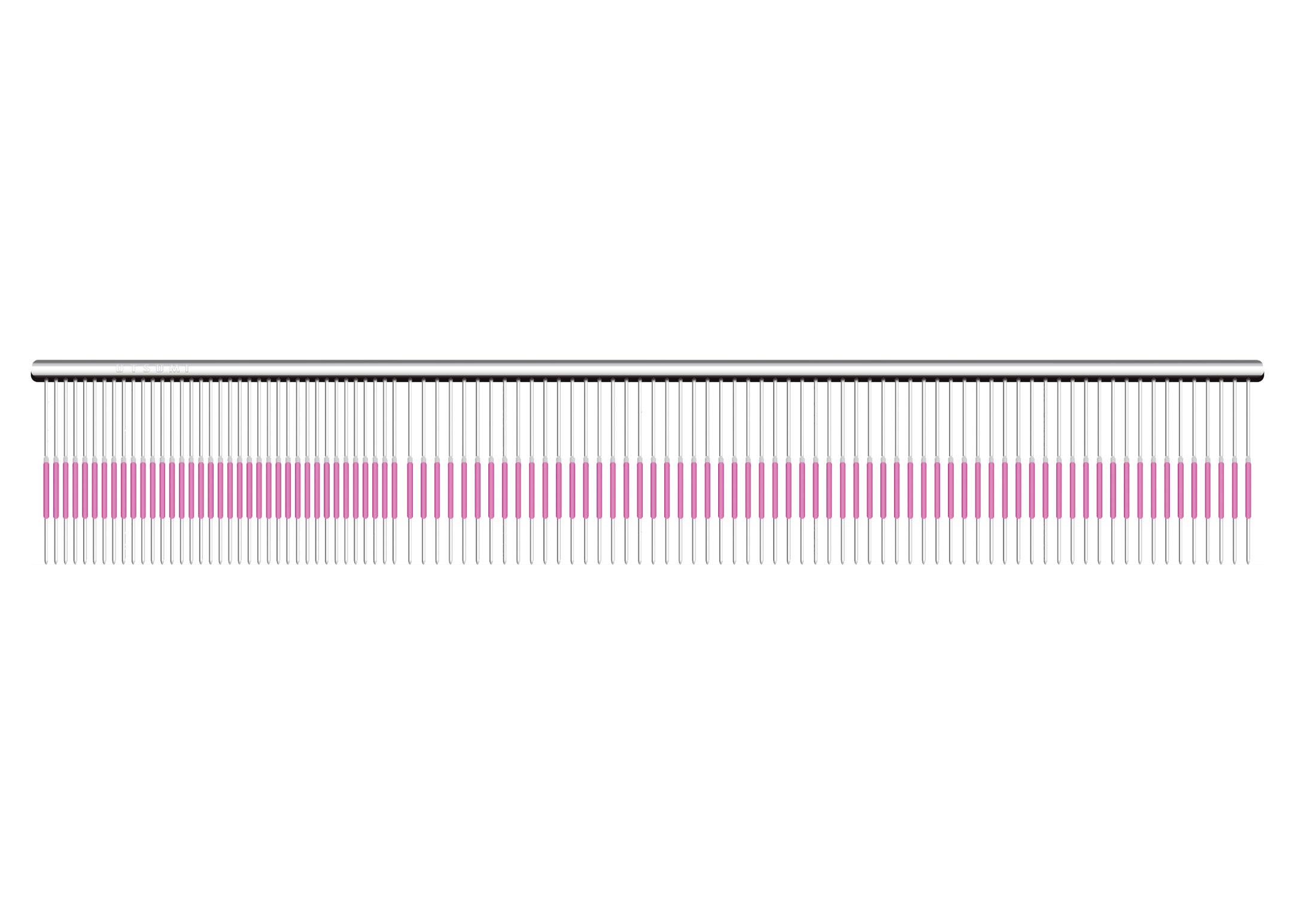 Utsumi U&U Wide Quarter Pink Line Comb 23cm