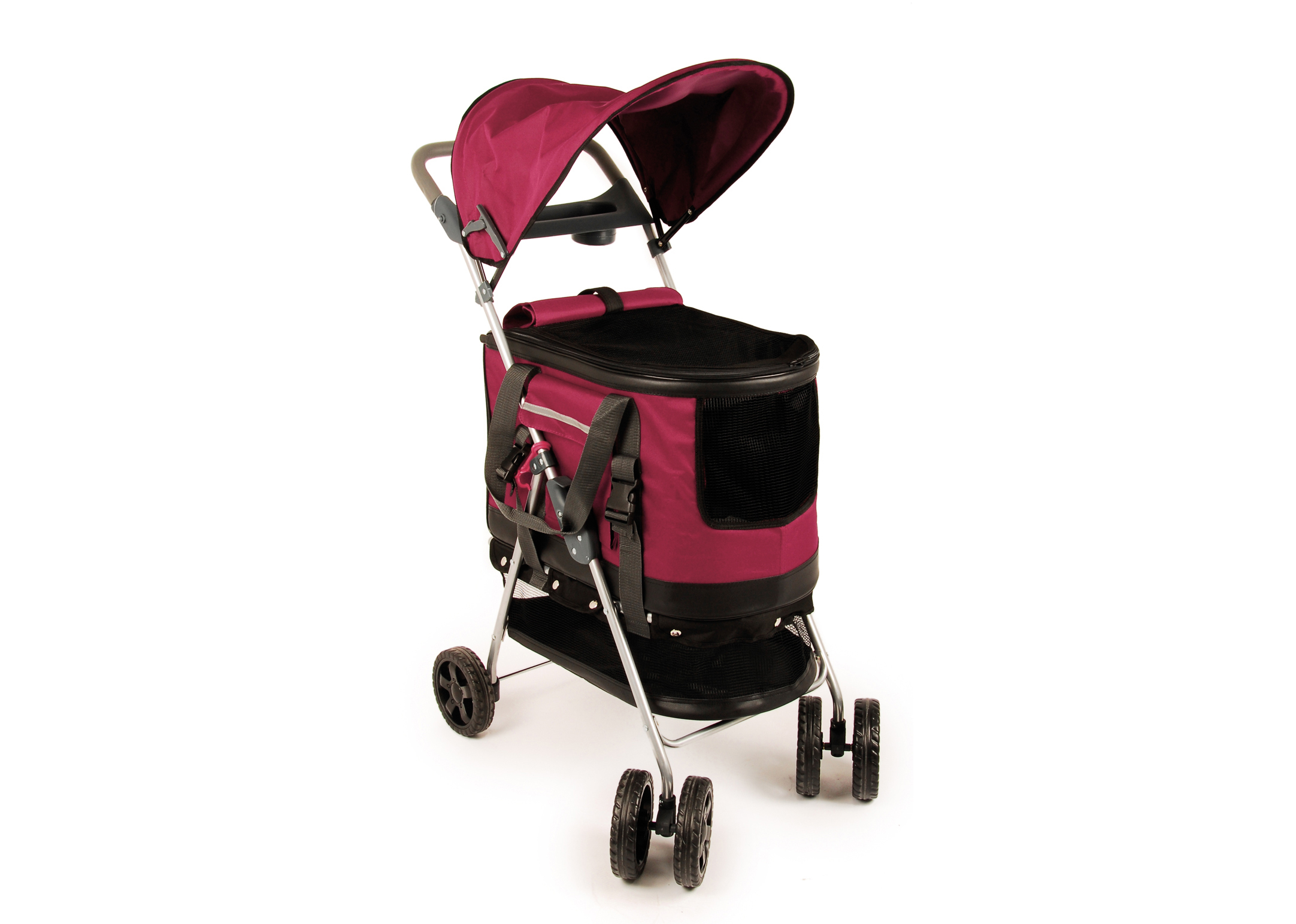 Travel Pet Stroller Framboos