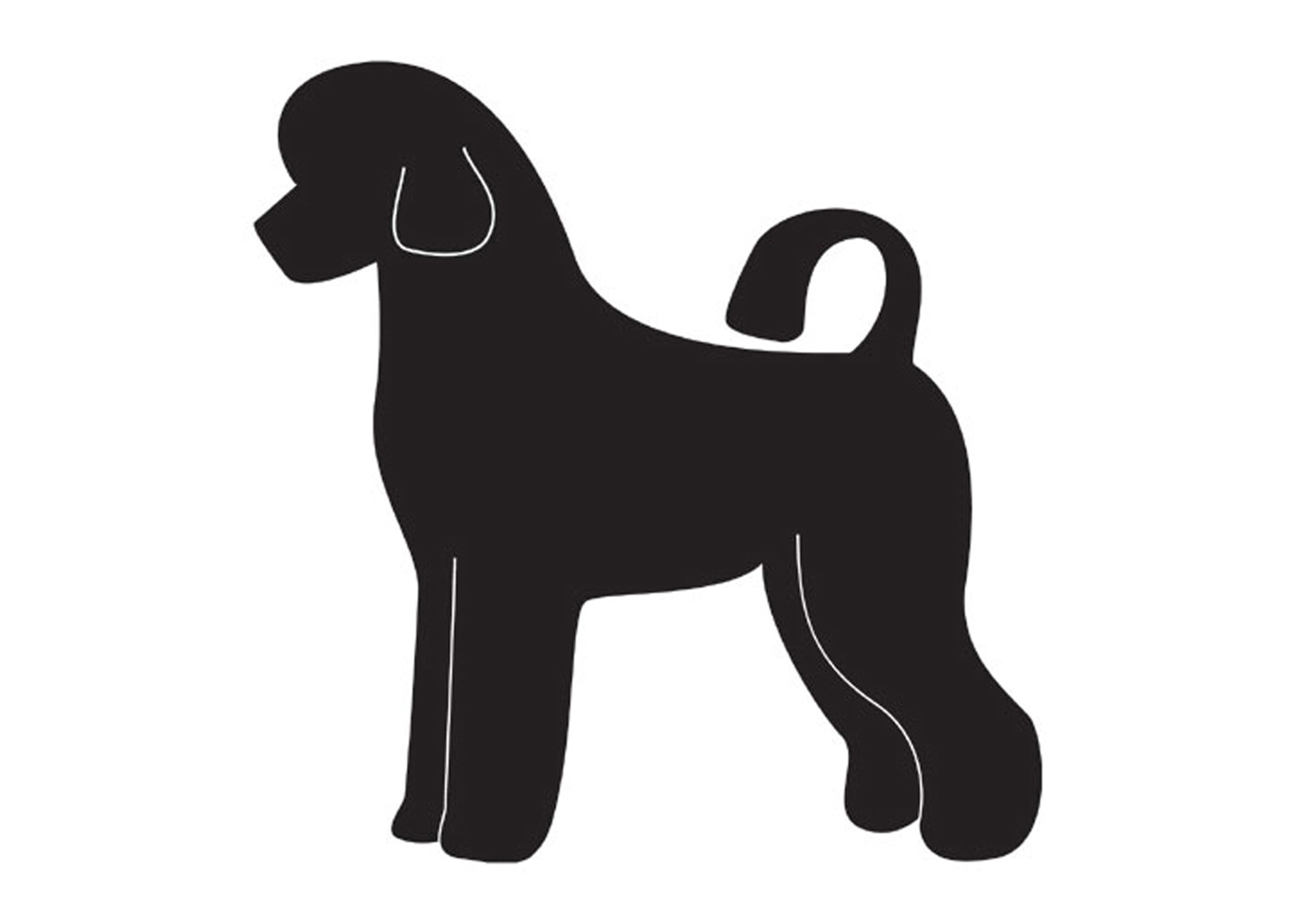 K-design Portuguese Water Dog Puppy Sticker For Groomers