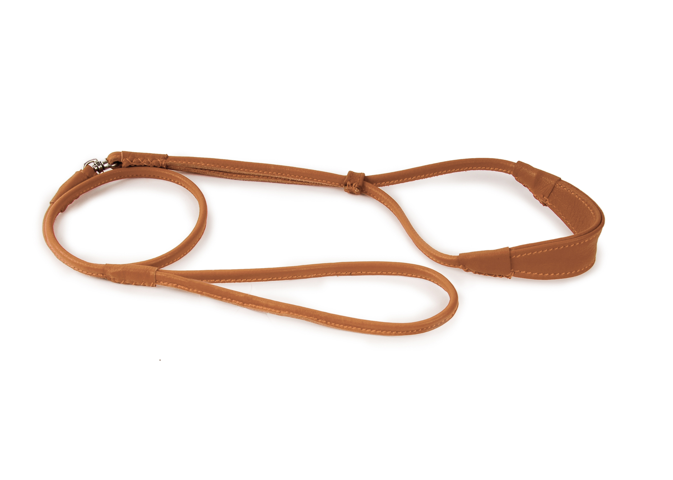 Dapper Dogs Comfort Show Lead Round Cow Leather S 5mm Tan Leather Comfort Lead