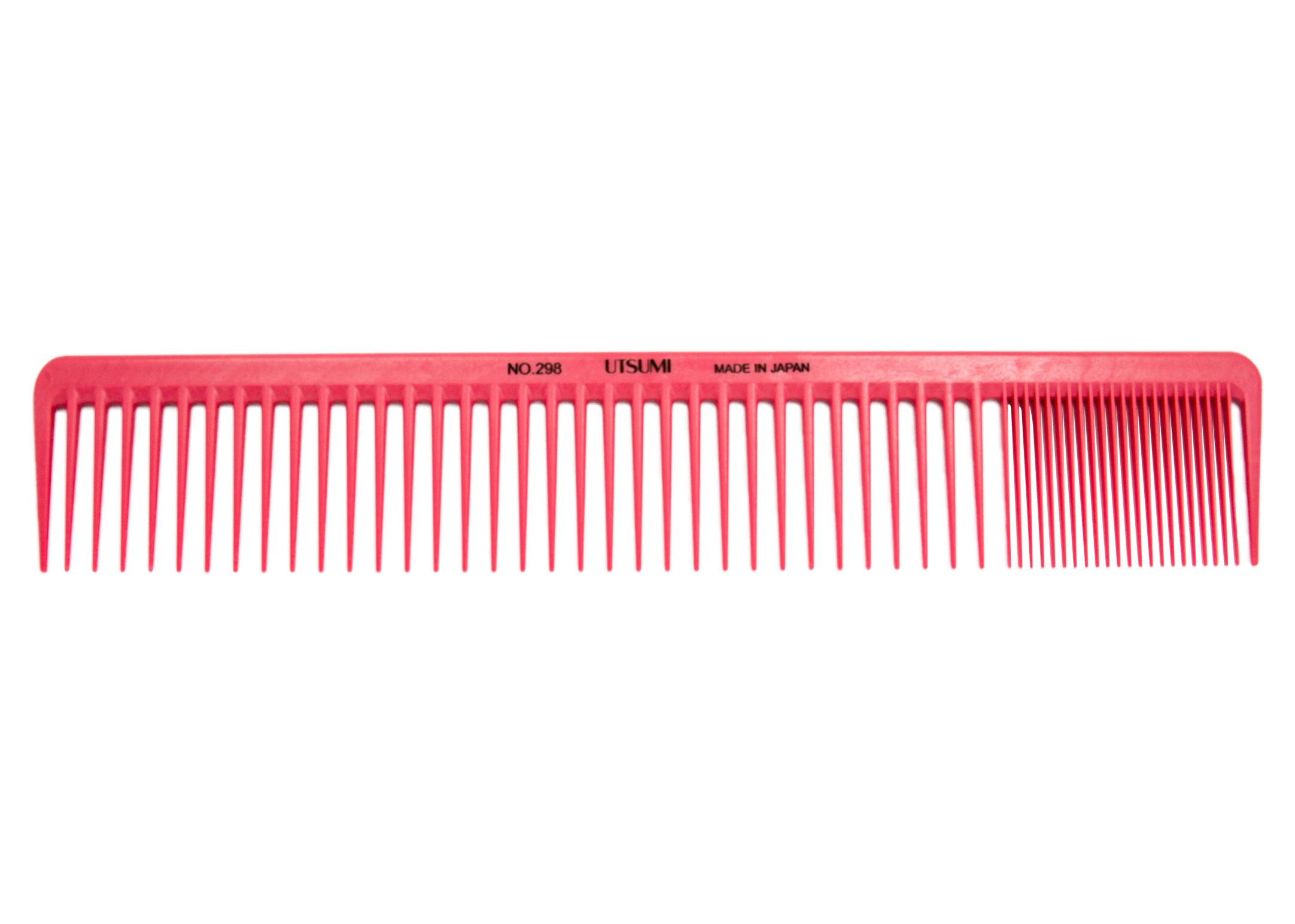 Utsumi BW Carbon Comb NO298 25cm Comb  Pink