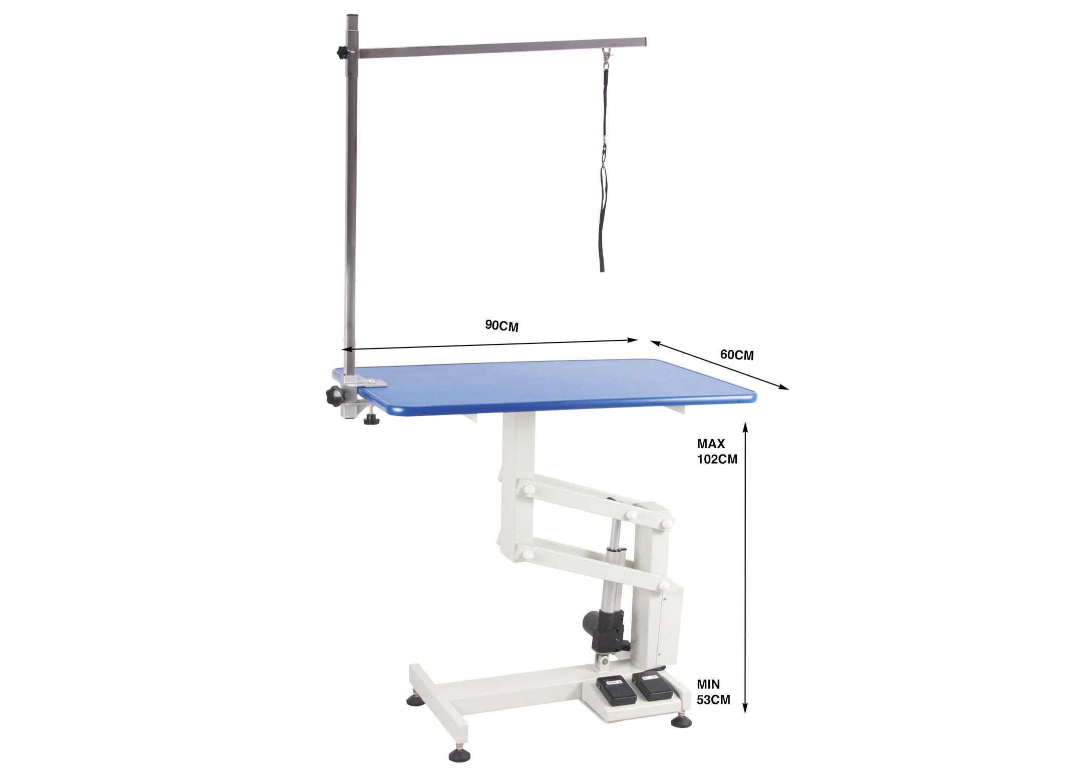 Groom-X Pro Compact Table de Toilettage Electrique 90x60x53-102cmh avec Potence